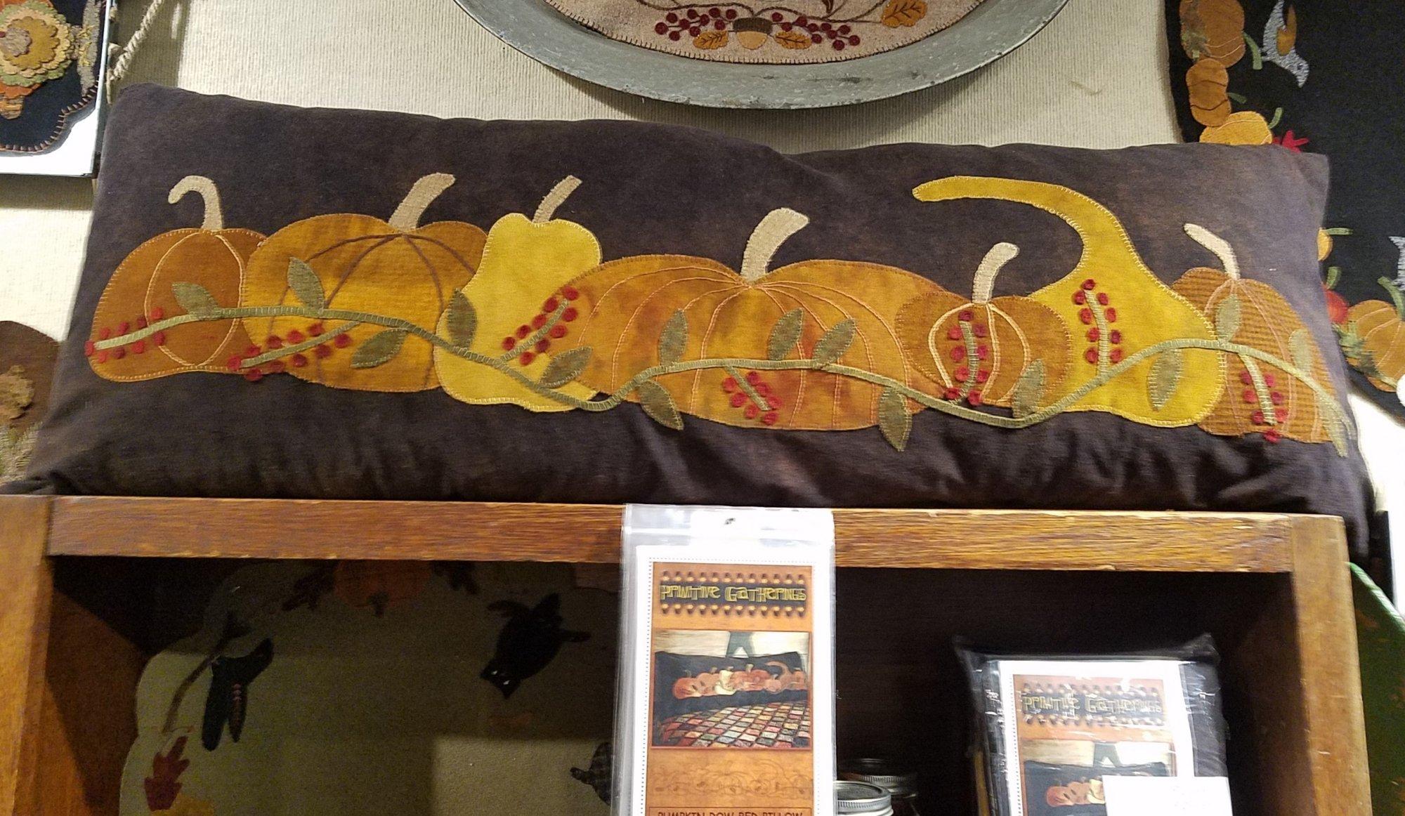 Valdani Pumpkin Row Bed Pillow Collection of 7 Threads