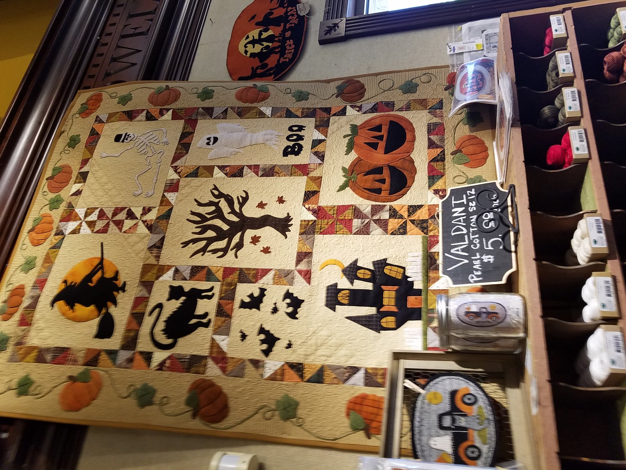 Spooky Hollow Wool Quilt Kit with Pattern: 46 x 58