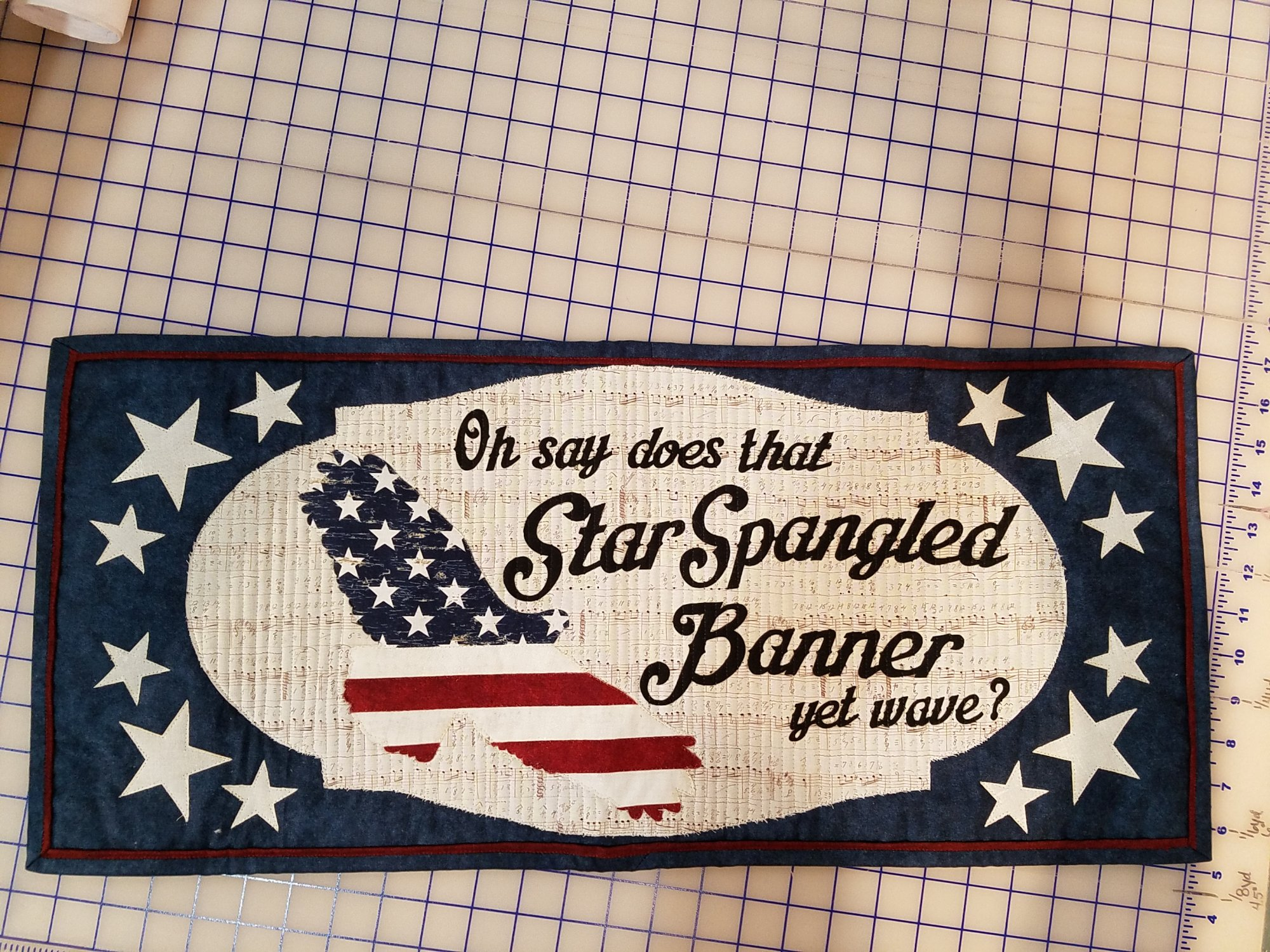 Row by Row 2018 - Sew Musical Star Spangled Banner