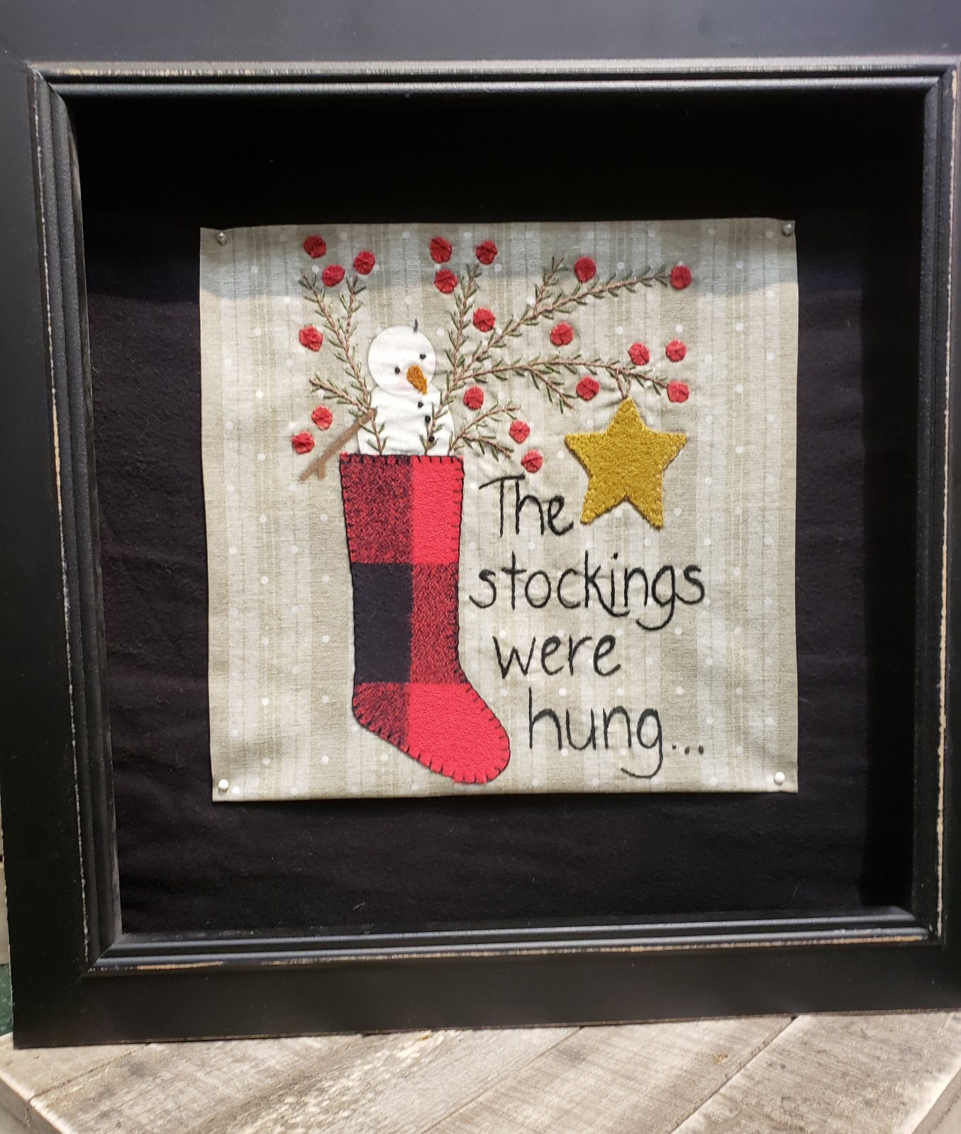 The Stockings Were Hung Wool and Flannel Kit plus Pattern