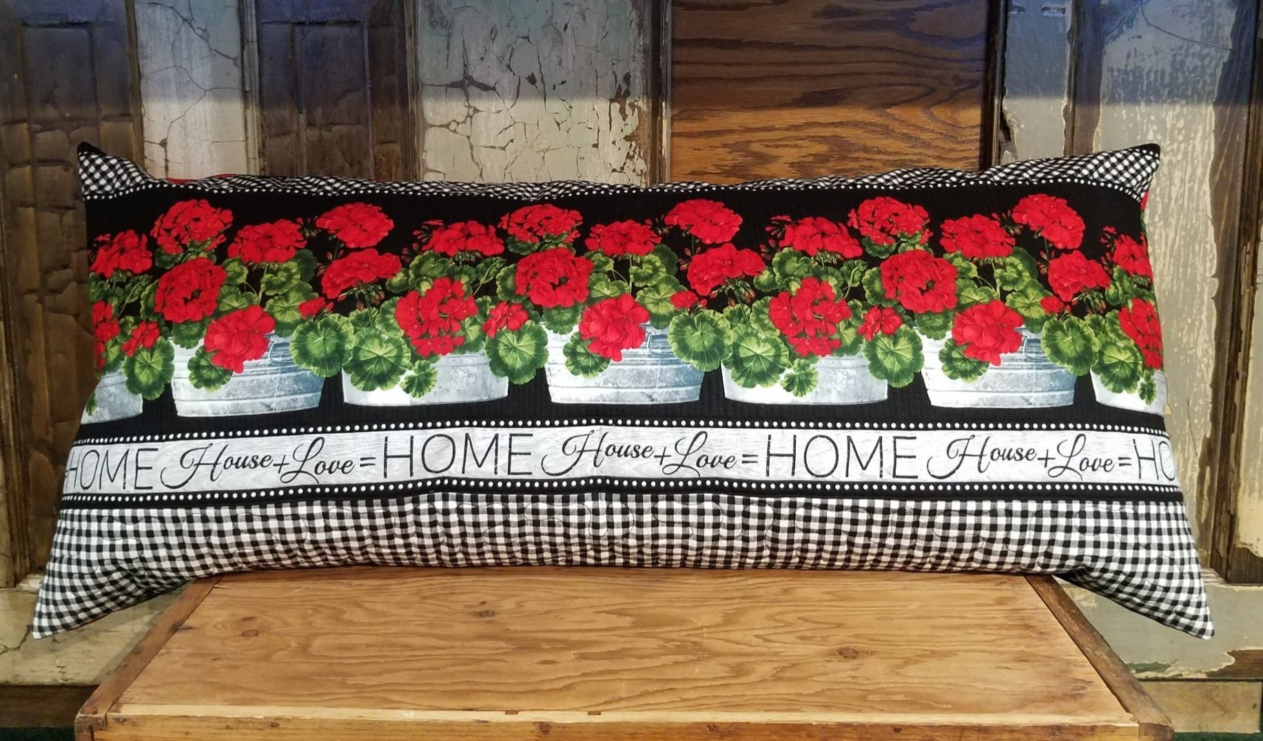 Bench Pillow Kit - Geranium Garden