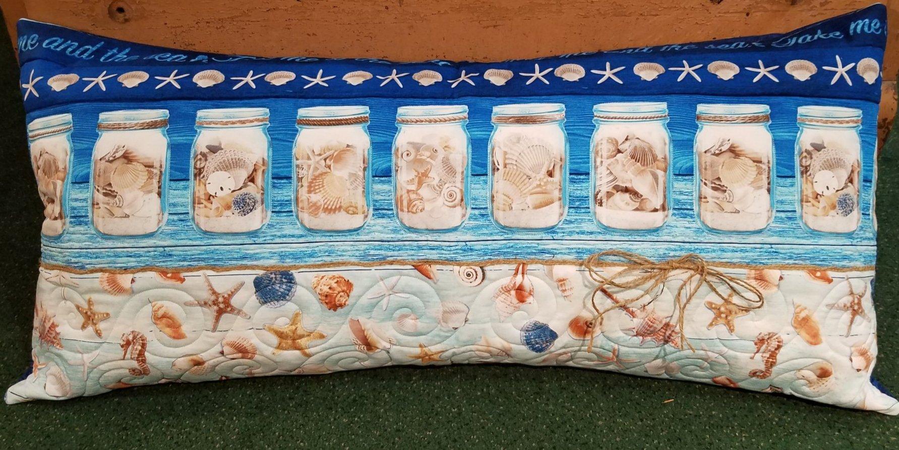 Bench Pillow Kit - Sea Shell Mason Jar