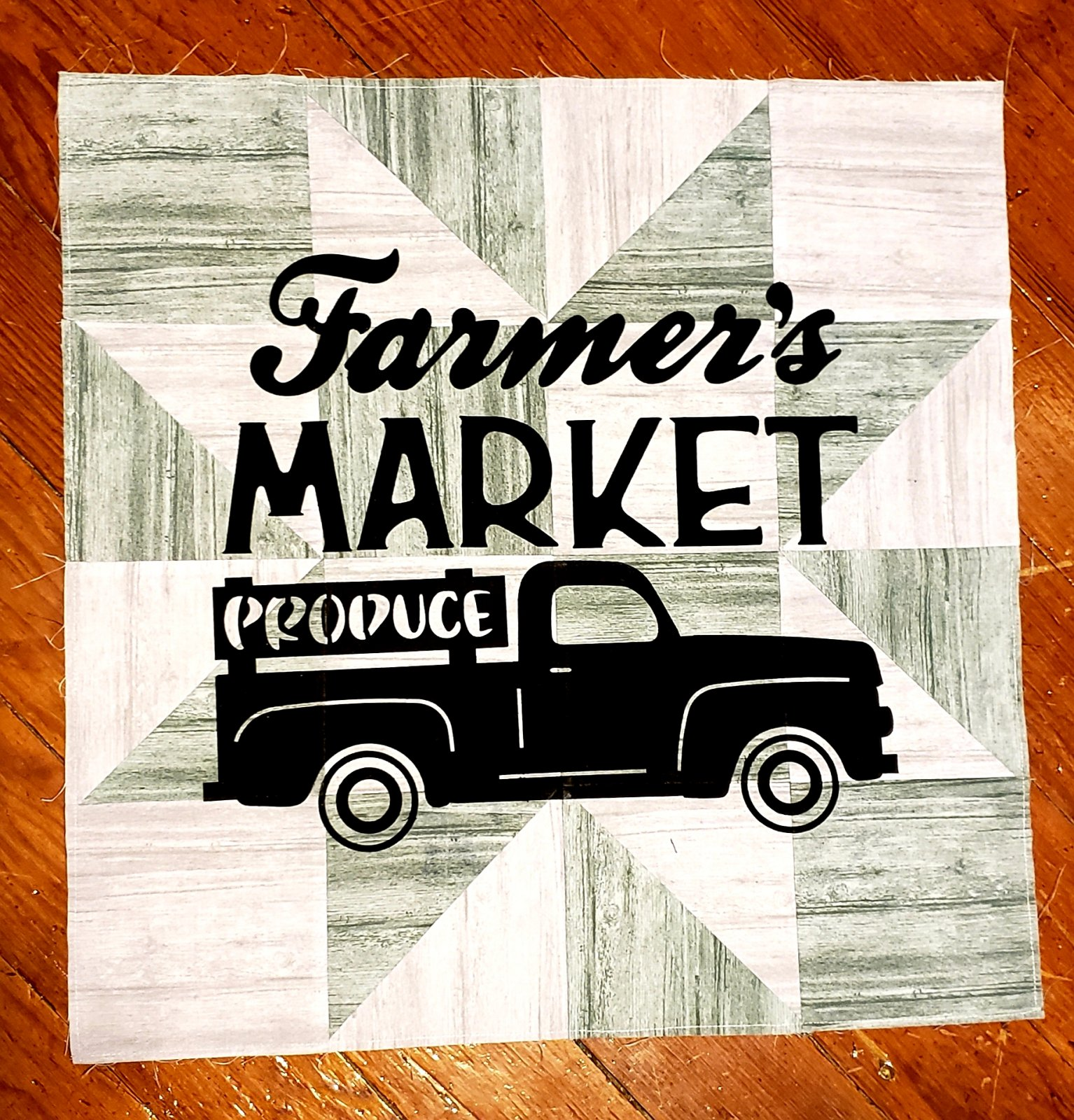 Produce Truck Pre-Cut & Prefused Applique Kit - 2 Color Block - Row by Row 2019 Taste The Experience
