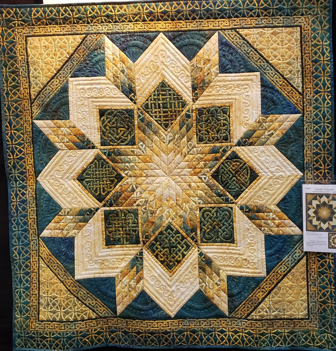 Solstice Star Quilt Kit Throw Size 69 x 69
