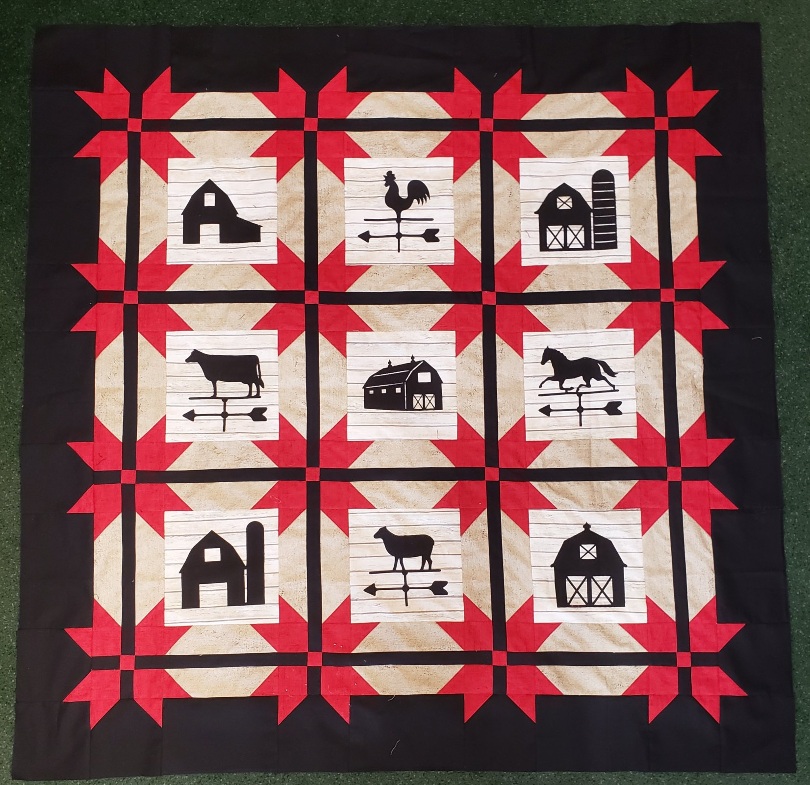 Barns & Weathervanes Pattern with Laser Cut Appliques