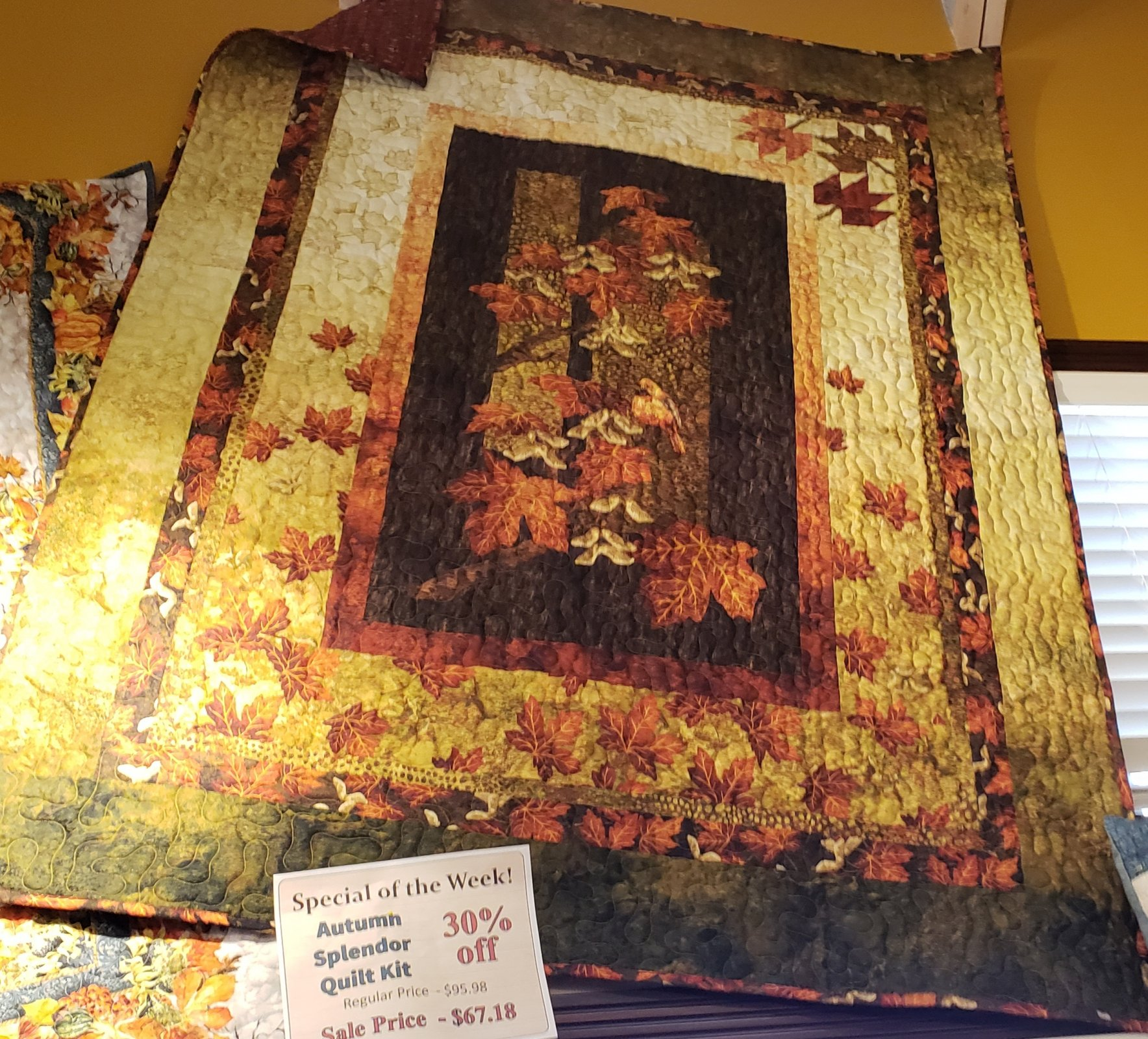 Autumn Splendor RED Throw Kit 58 x 76