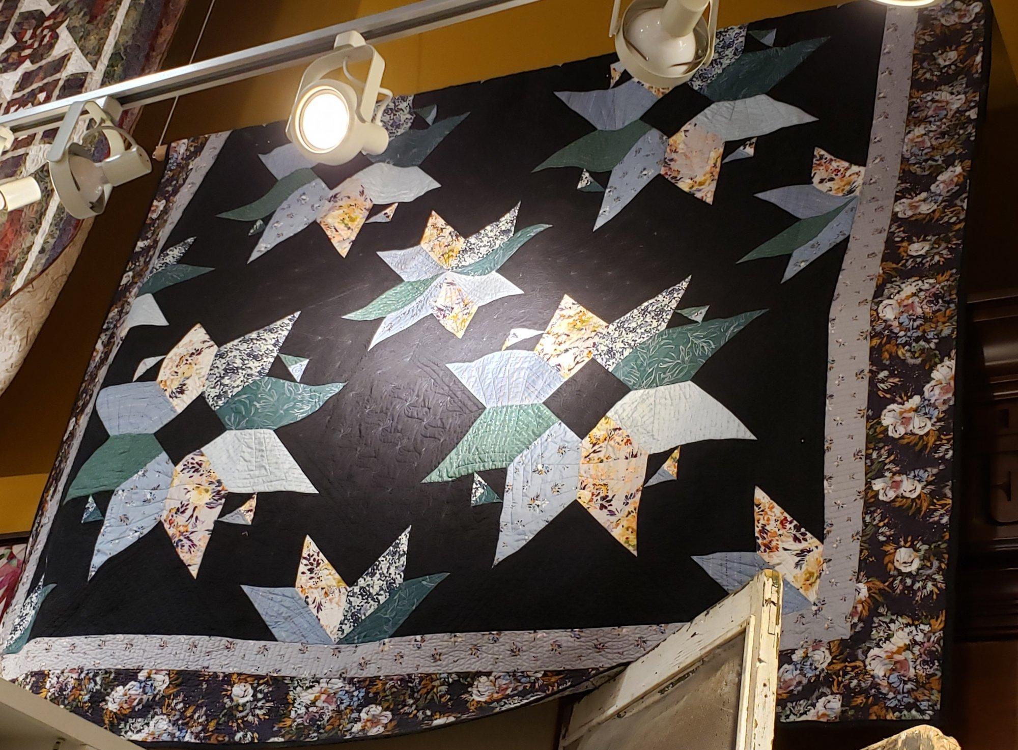 Hailey's Stars Botany King Quilt Kit 100 x 100