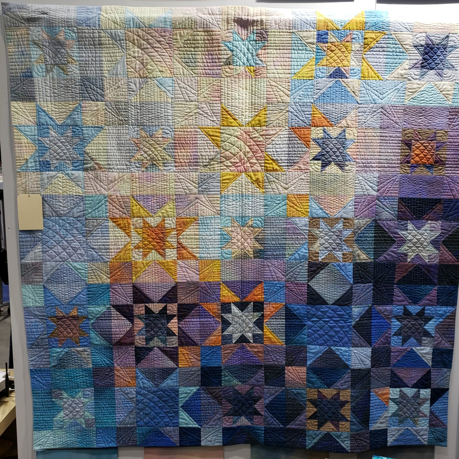 Dawn Star Ombre Quilt Kit 60.5 x 60.'5 With Pattern