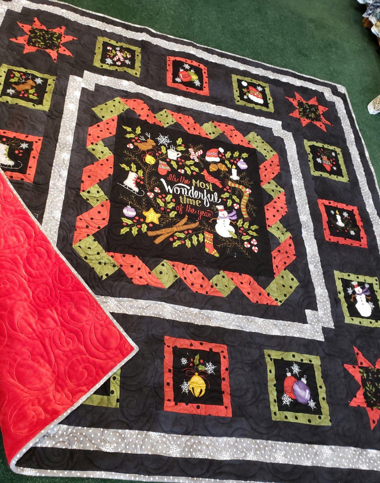 Winter Joy Flannel Quilt Kit