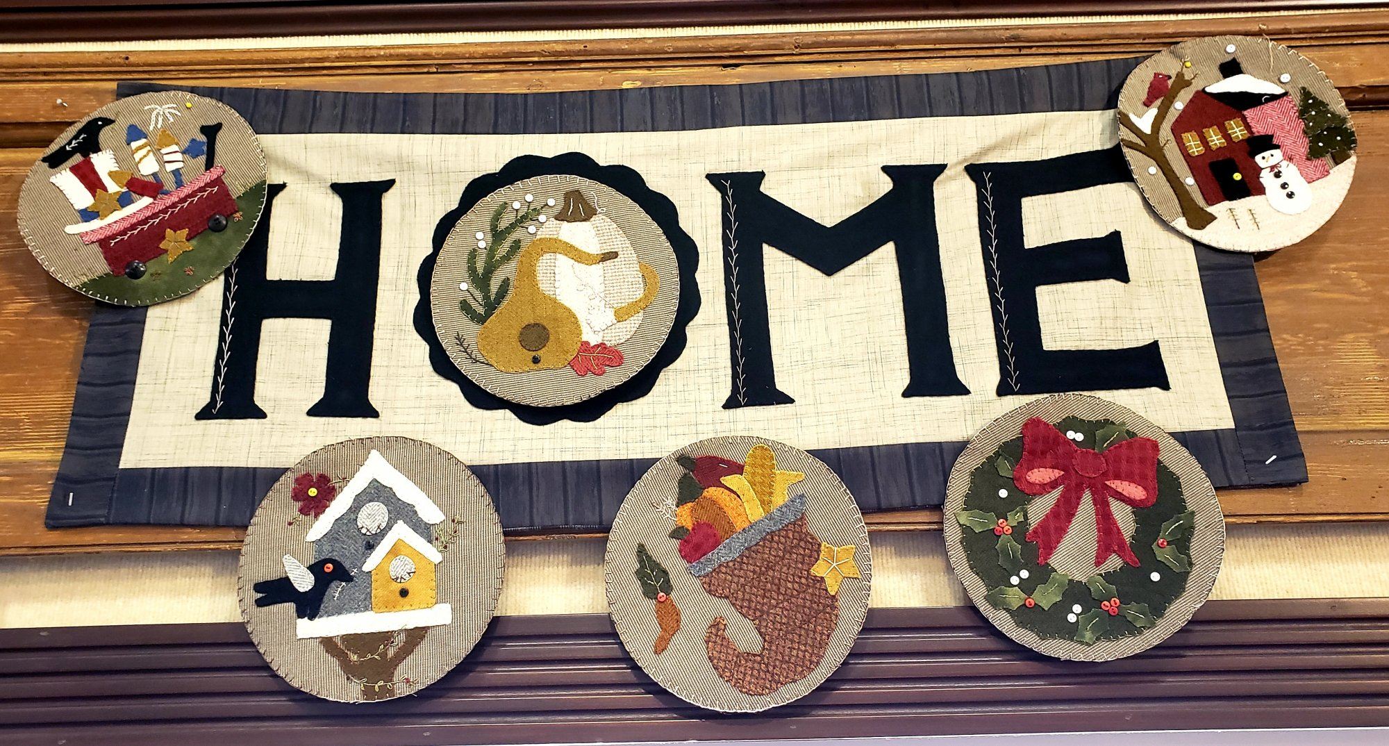 Welcome Home with 6 Centers Wool and Cotton Kit