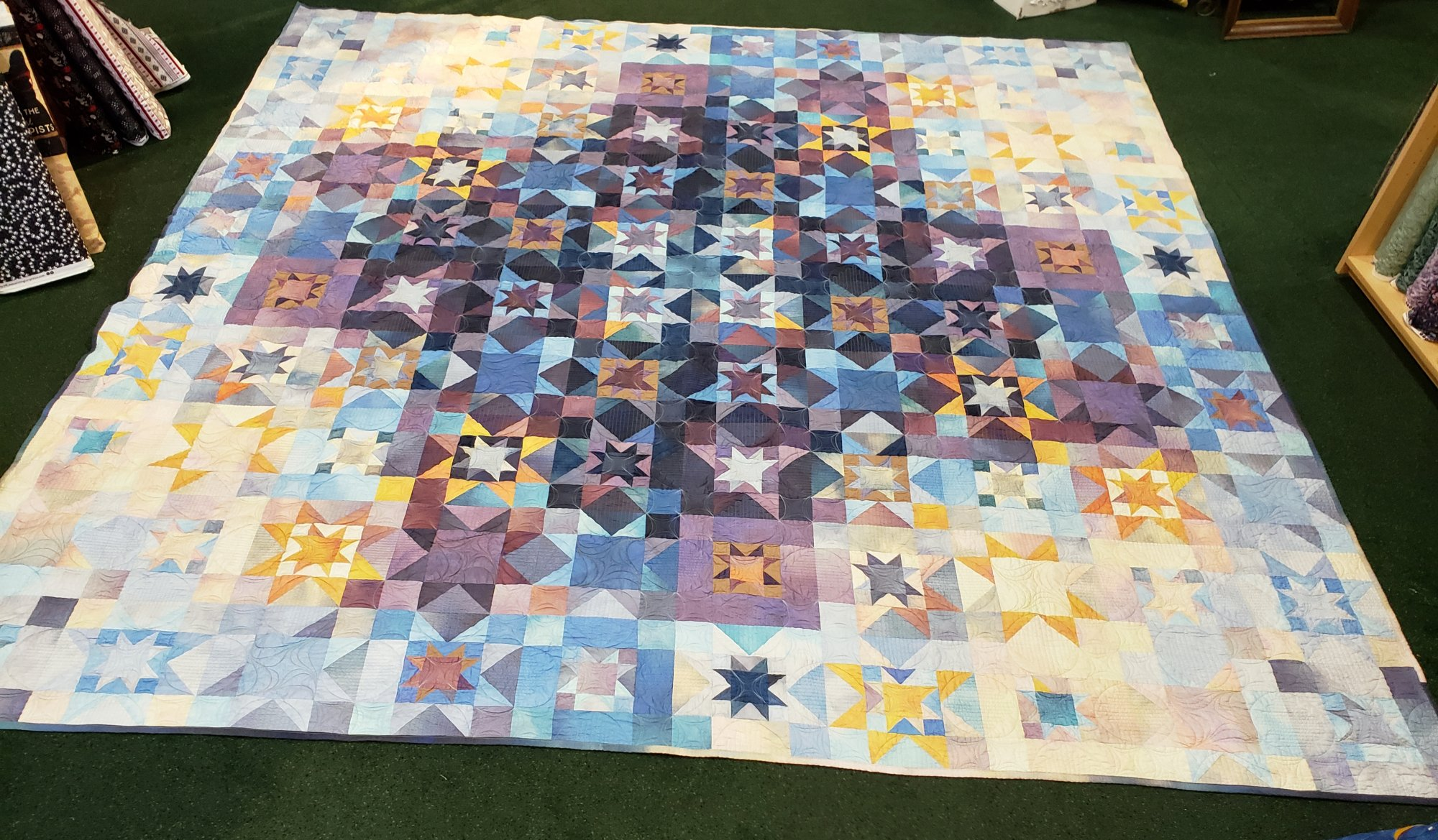Dawn Star Ombre King Quilt Kit