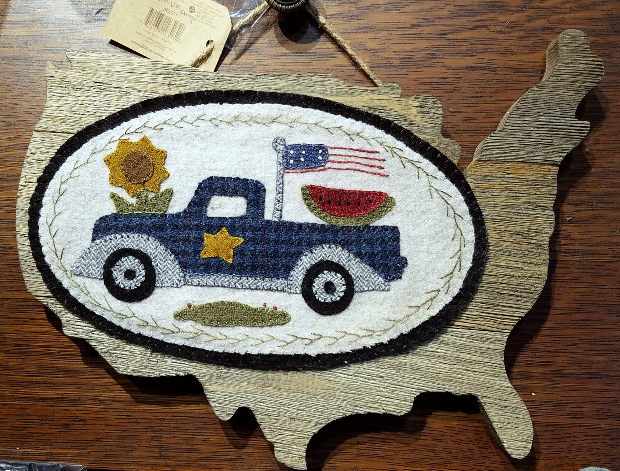 Mini Vintage Truck Thru The Year - July Wool Kit