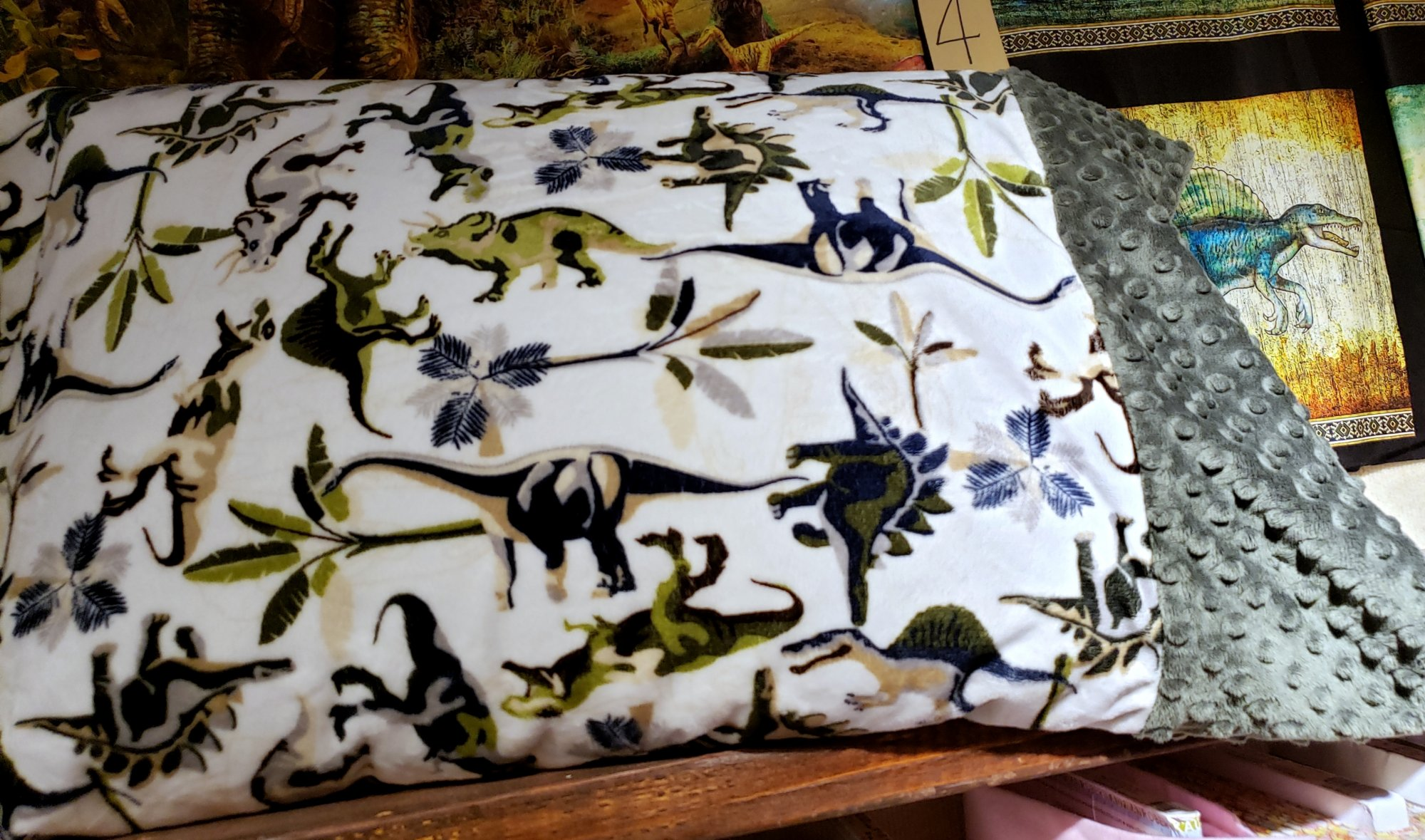 Roll and Sew Cuddle Pillowcase - Dino