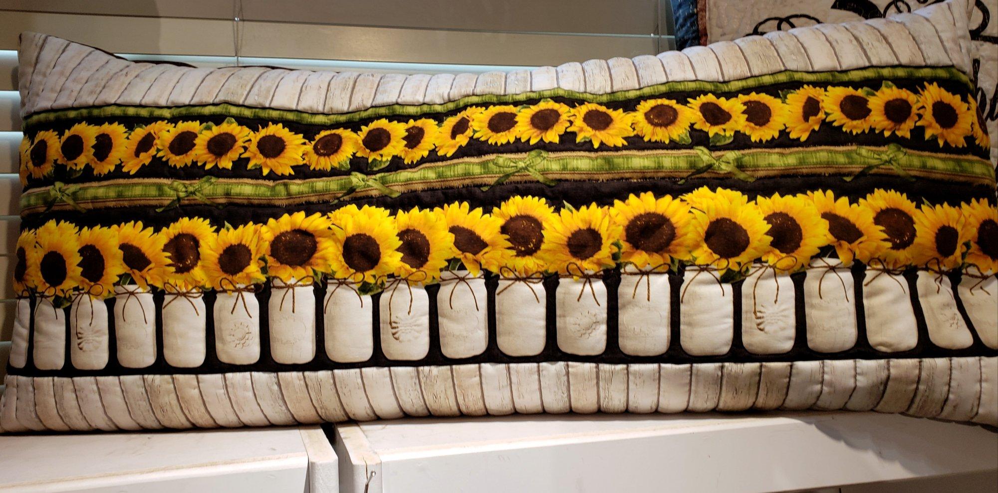 Bench Pillow Kit - Sunflower Milk Jar