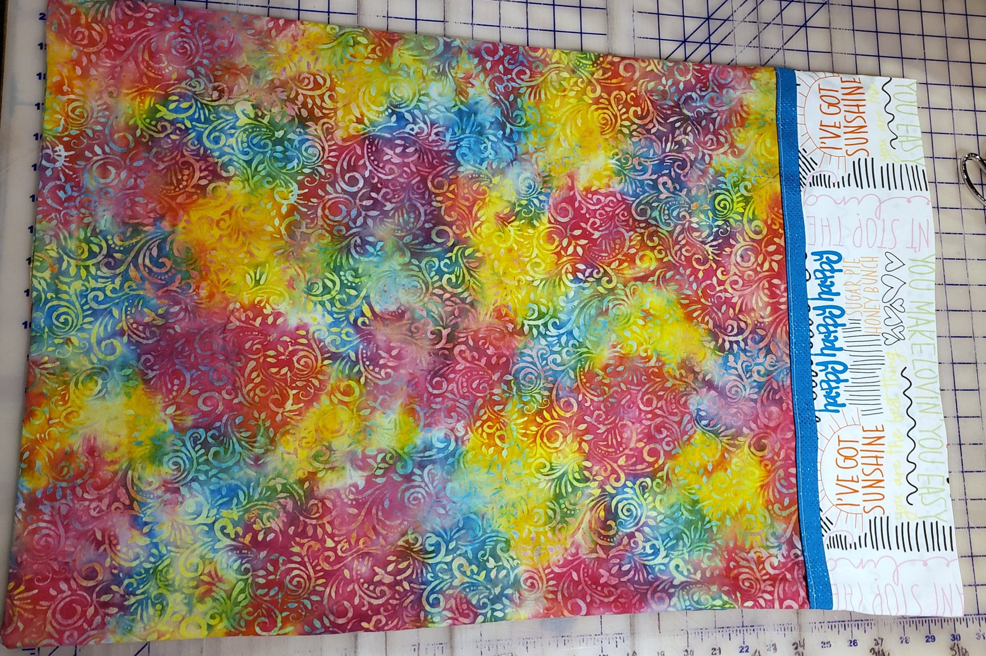 Happy Words Rainbow Pillowcase Kit