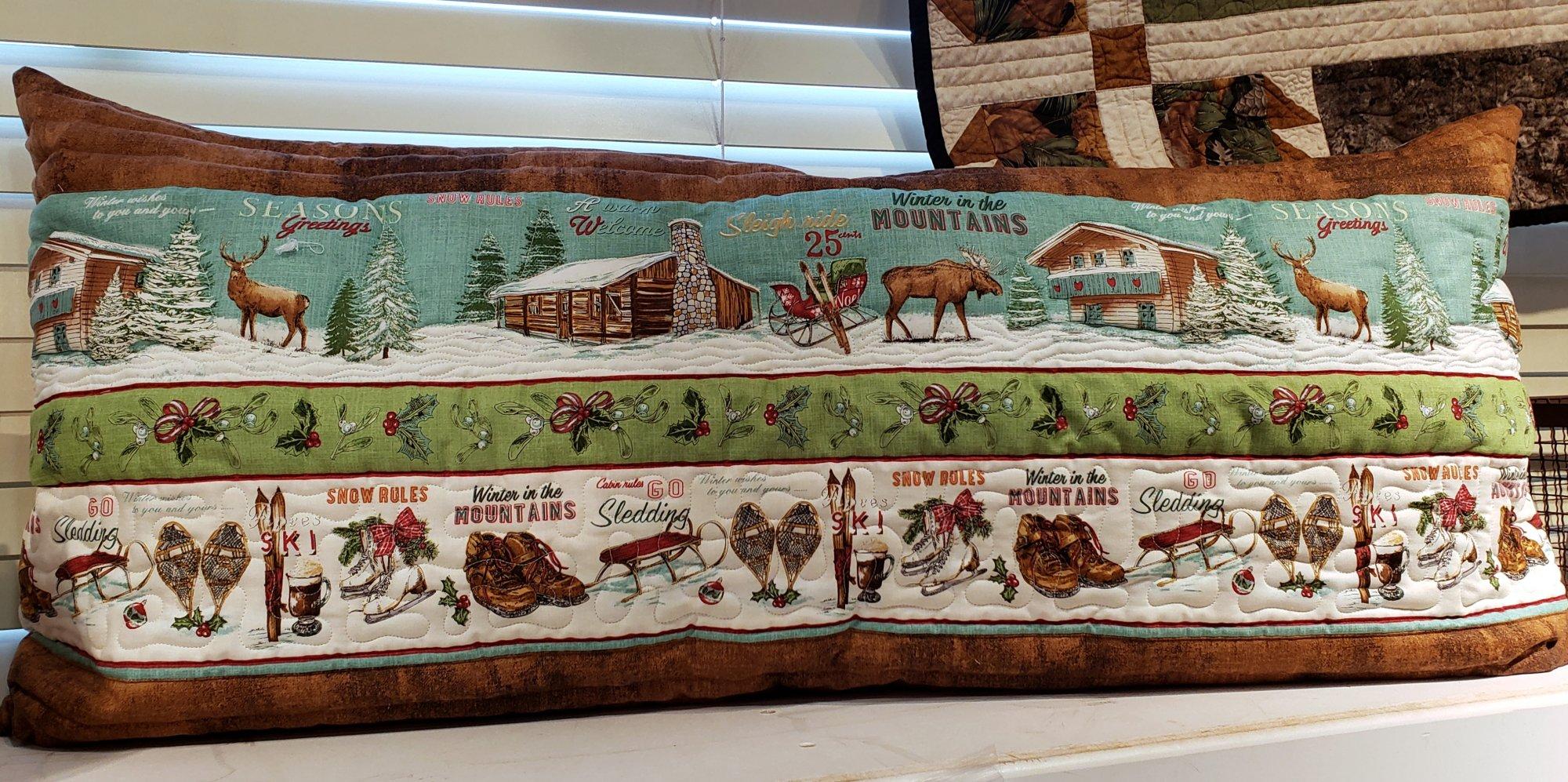 Bench Pillow Kit - Winter Lodge