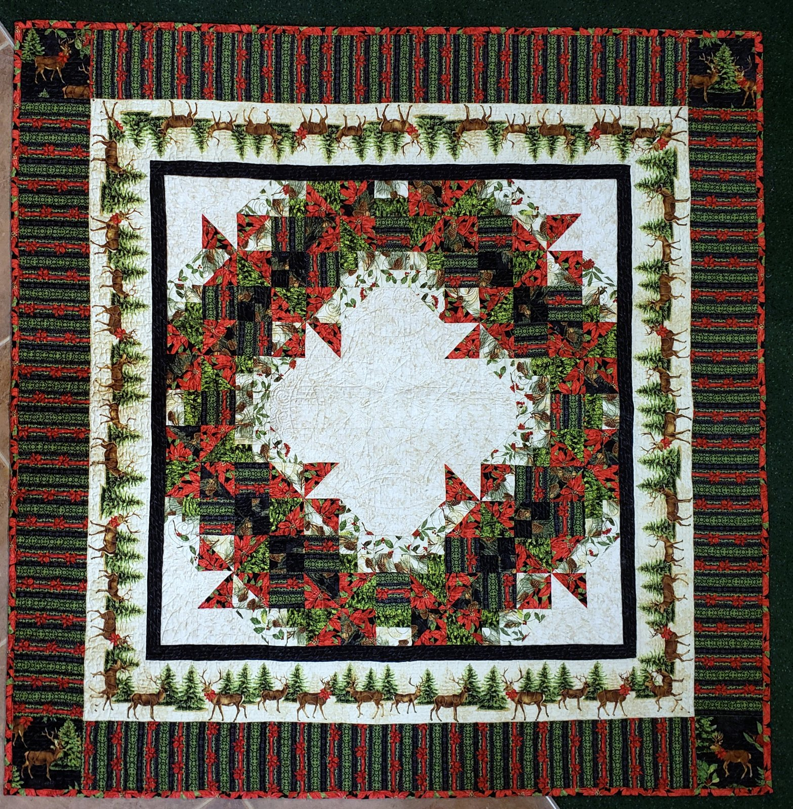Festive Forest Throw Quilt Kit