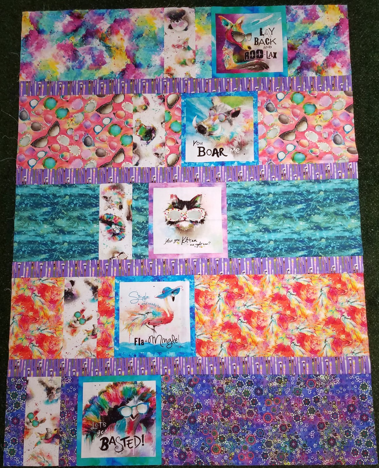 Sassier Animals Quilt Kit with Pattern