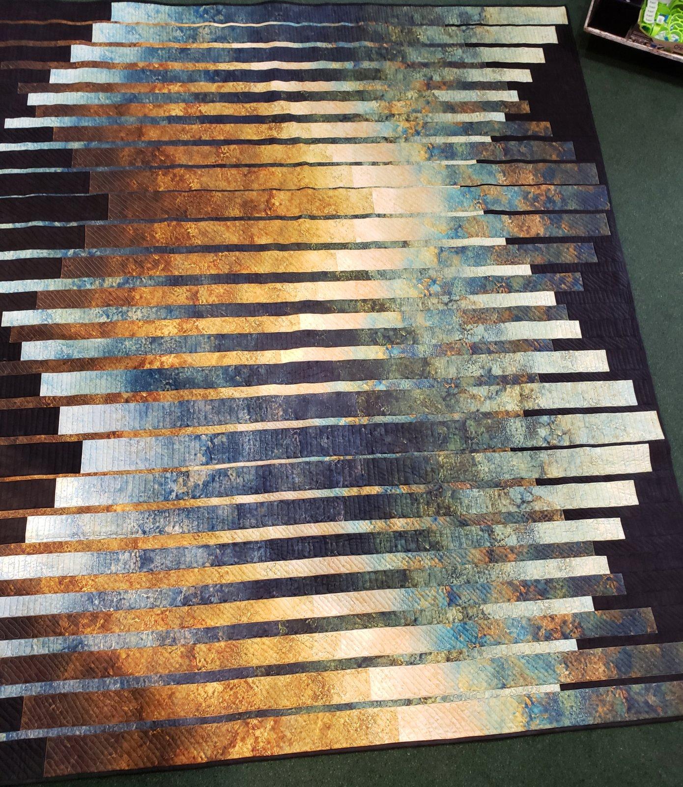 Good Vibrations Quilt Kit - Copper