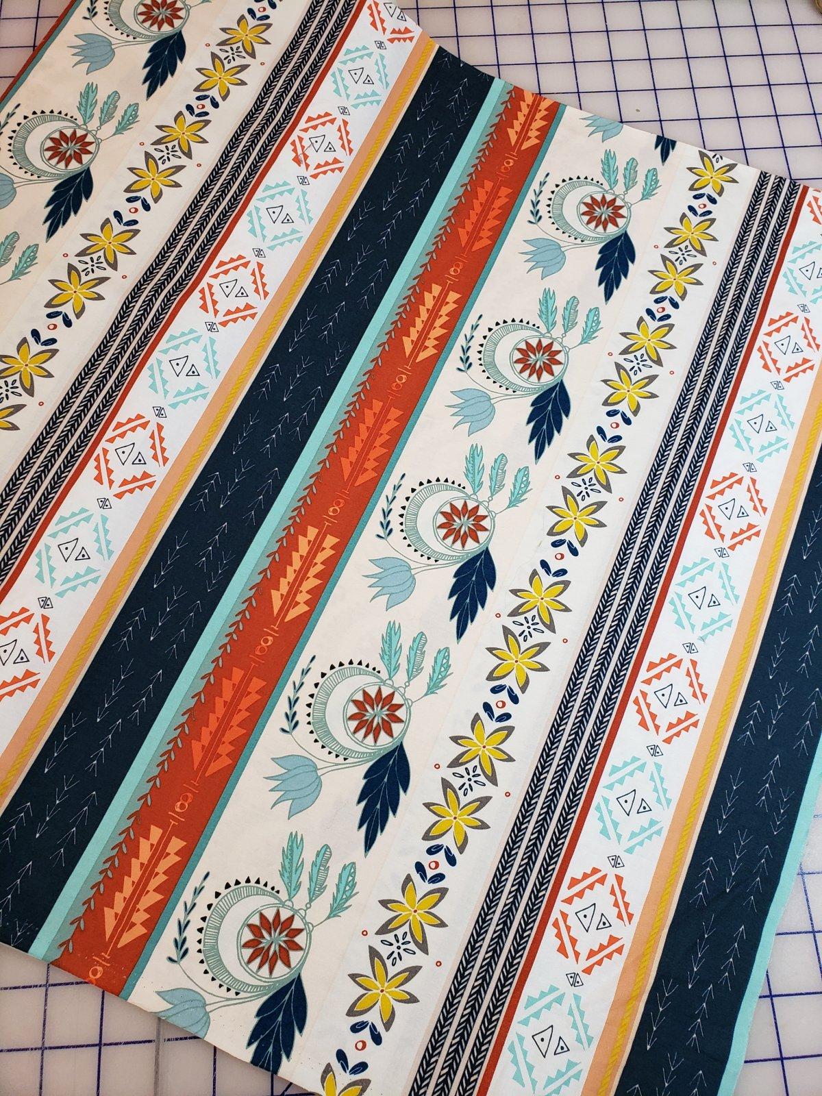 Closeout Fabrics: Teal and Peach