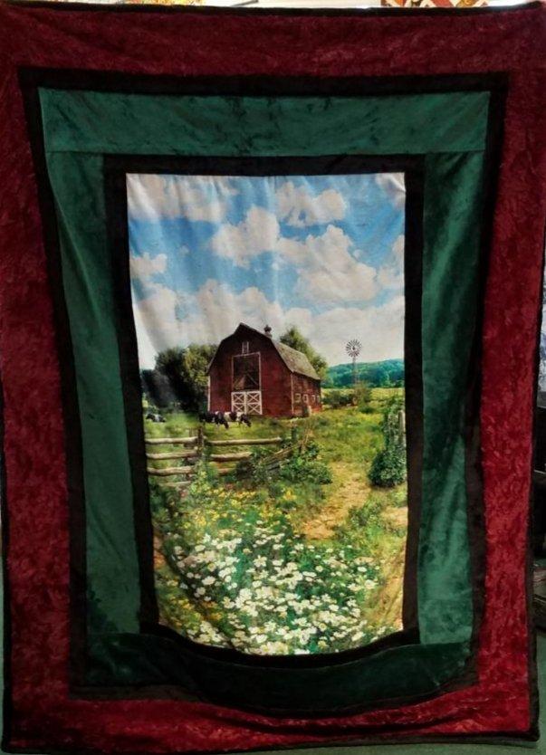 Farm Borderline Cuddle Quilt Kit