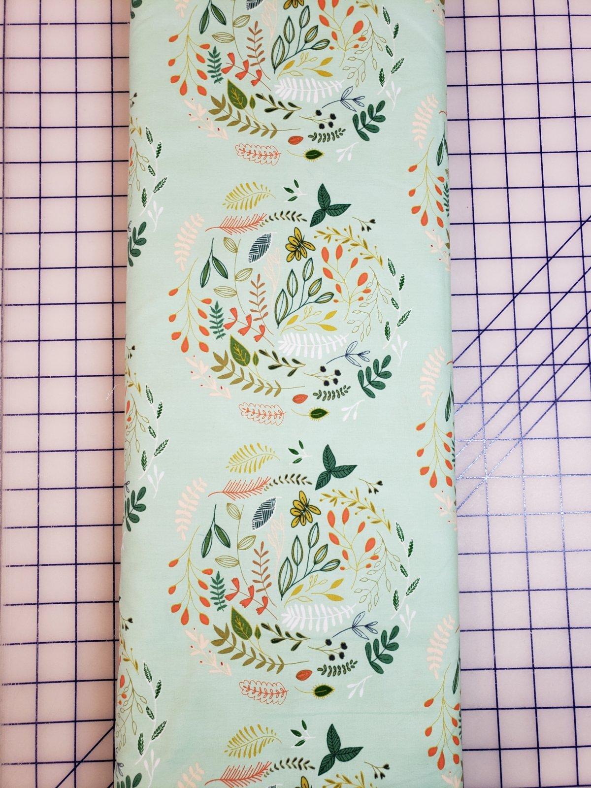 Closeout Fabrics - Teal, Peach, Green