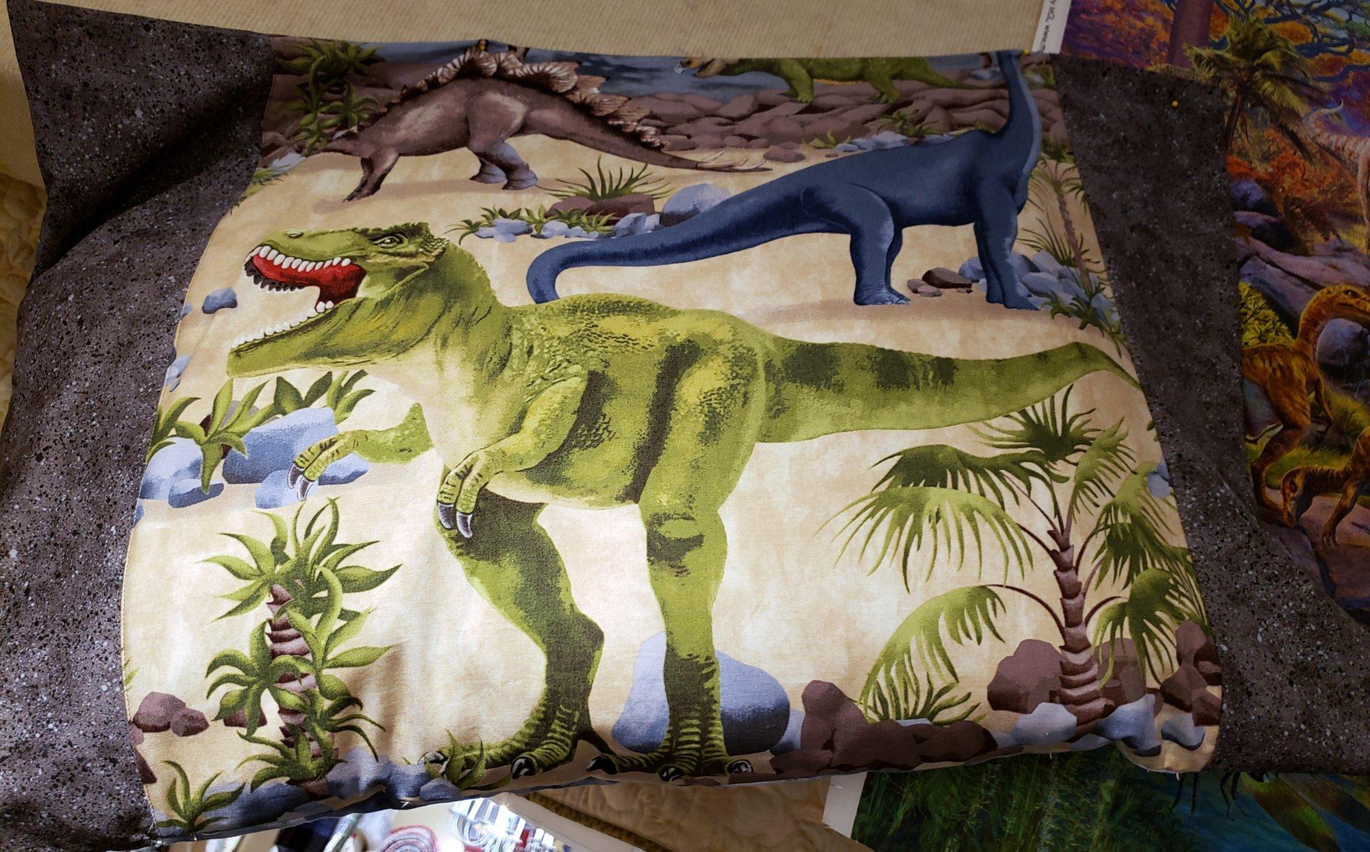 Pillowcase Kit - Dinosaur Panel