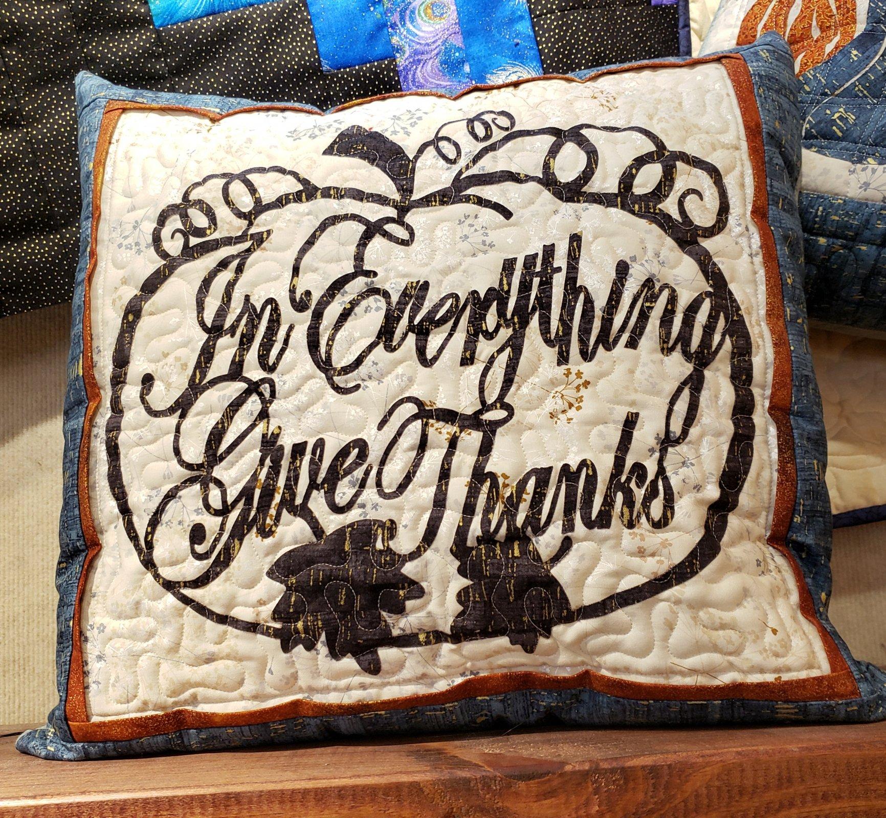 Give Thanks Square Pillow Kit