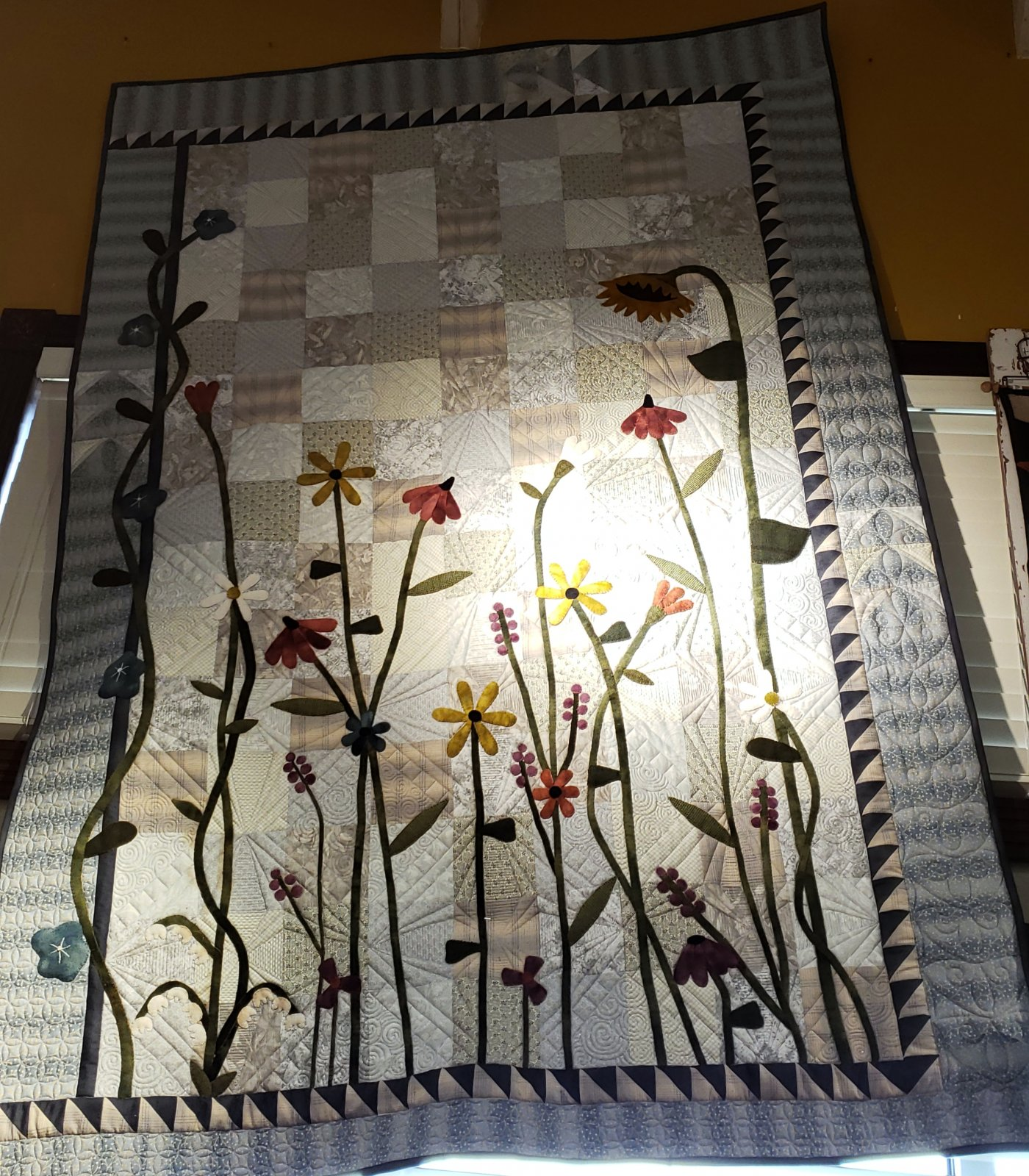 Prairie Quilt Kit - Wool and Cotton with Pattern