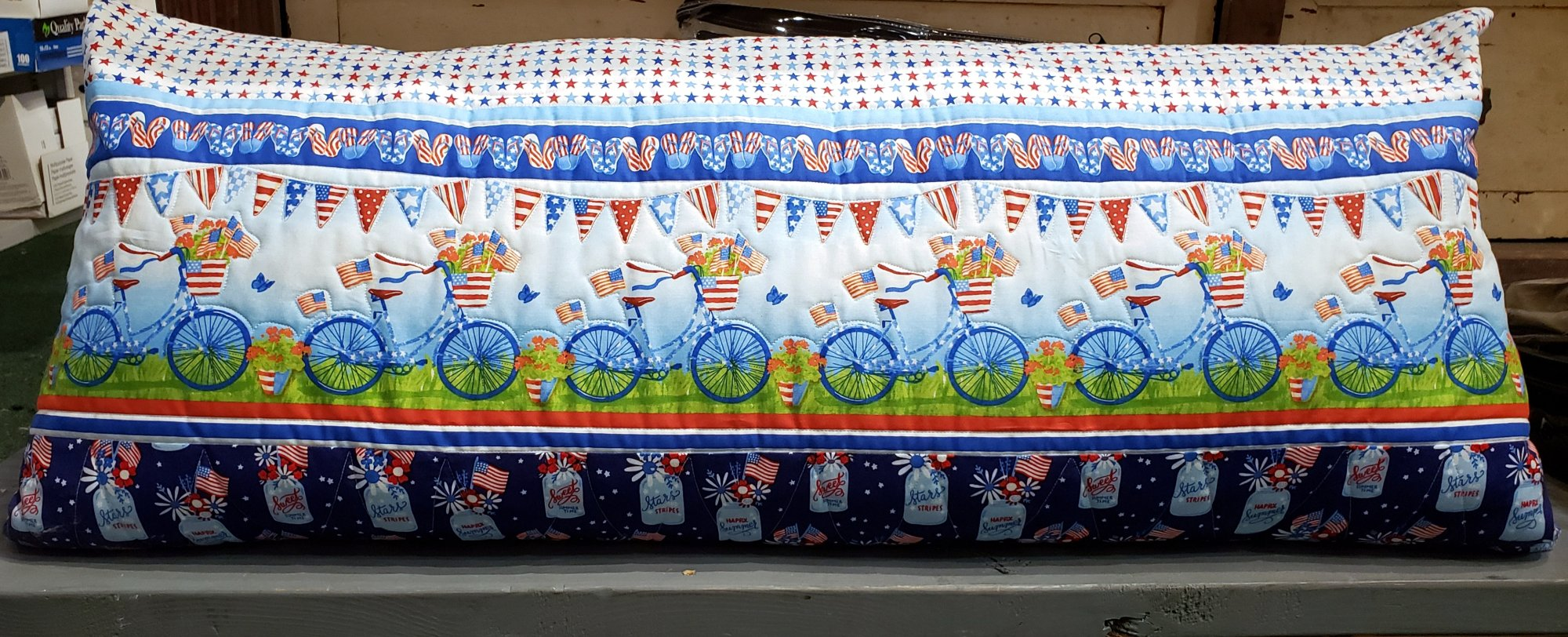 Bench Pillow Kit - Star Spangled Summer