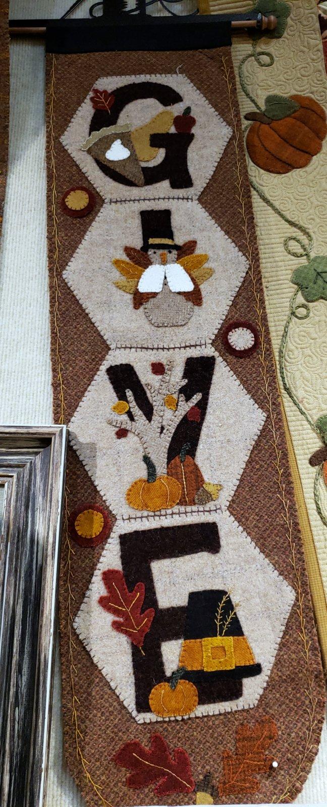 Hexi Door Greeter November Kit with Pattern
