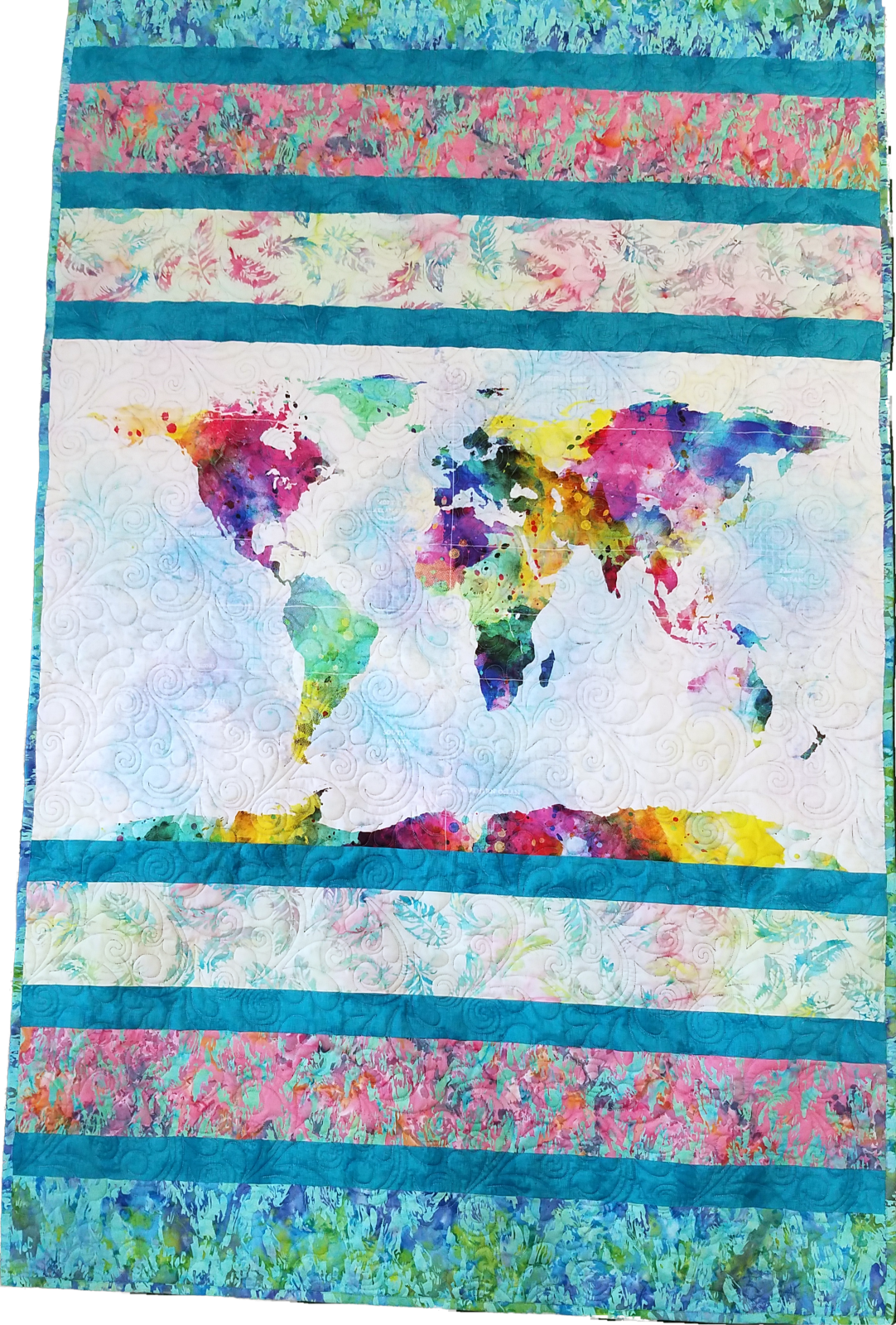 A Seriously Easy Throw - Spectrum Earth Quilt Kit with Pattern