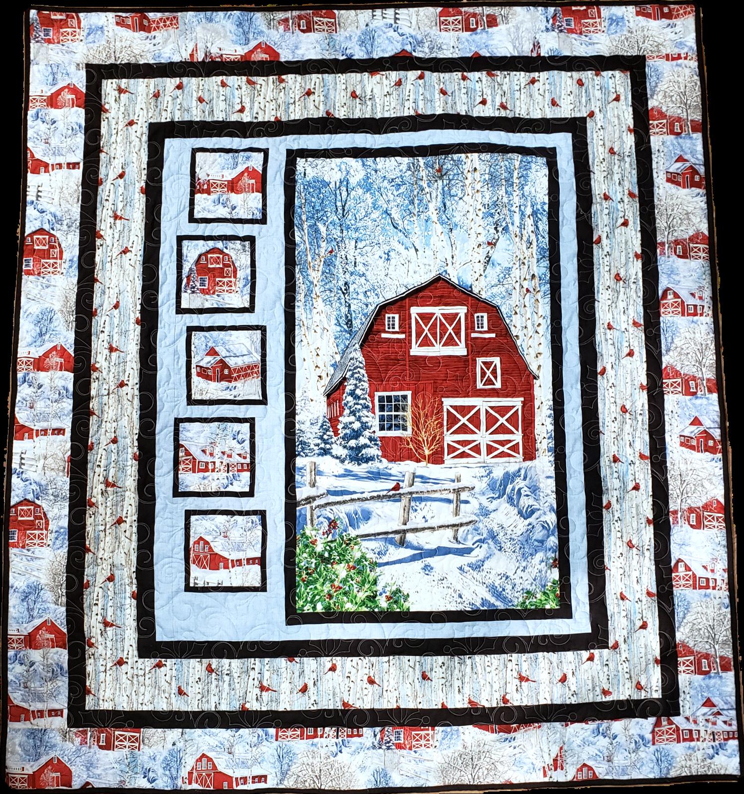 Snap Shots Large Throw Kit Featuring Winter Barn Panel