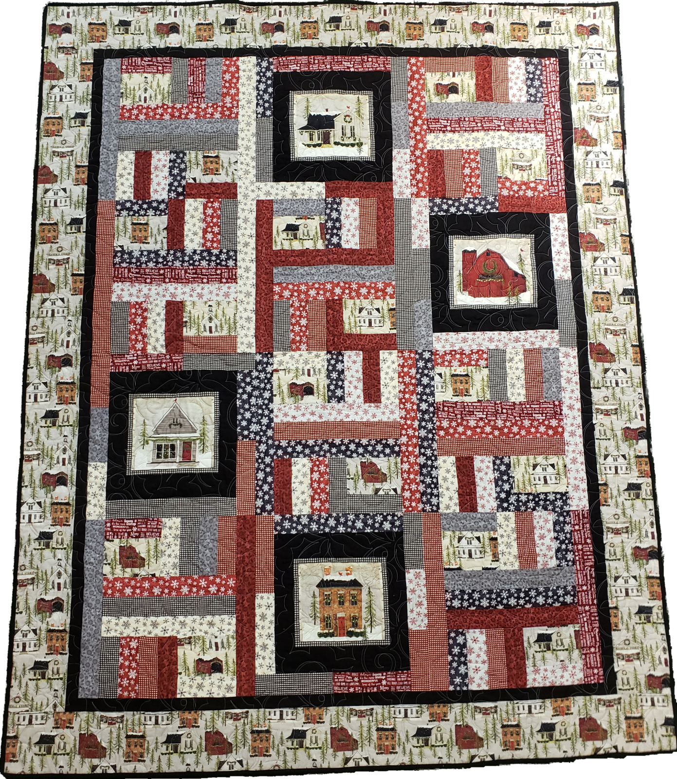 Once Upon a Memory - Snow Village Throw