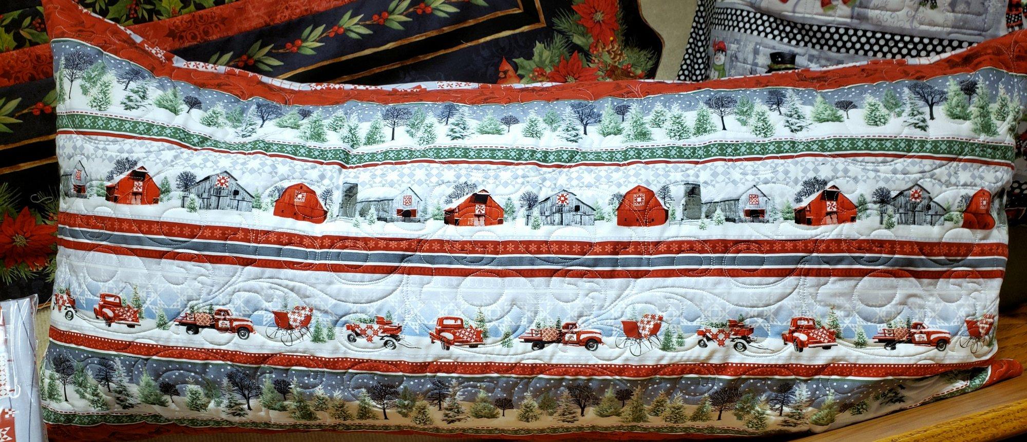 Bench Pillow Kit - Holiday Heartland
