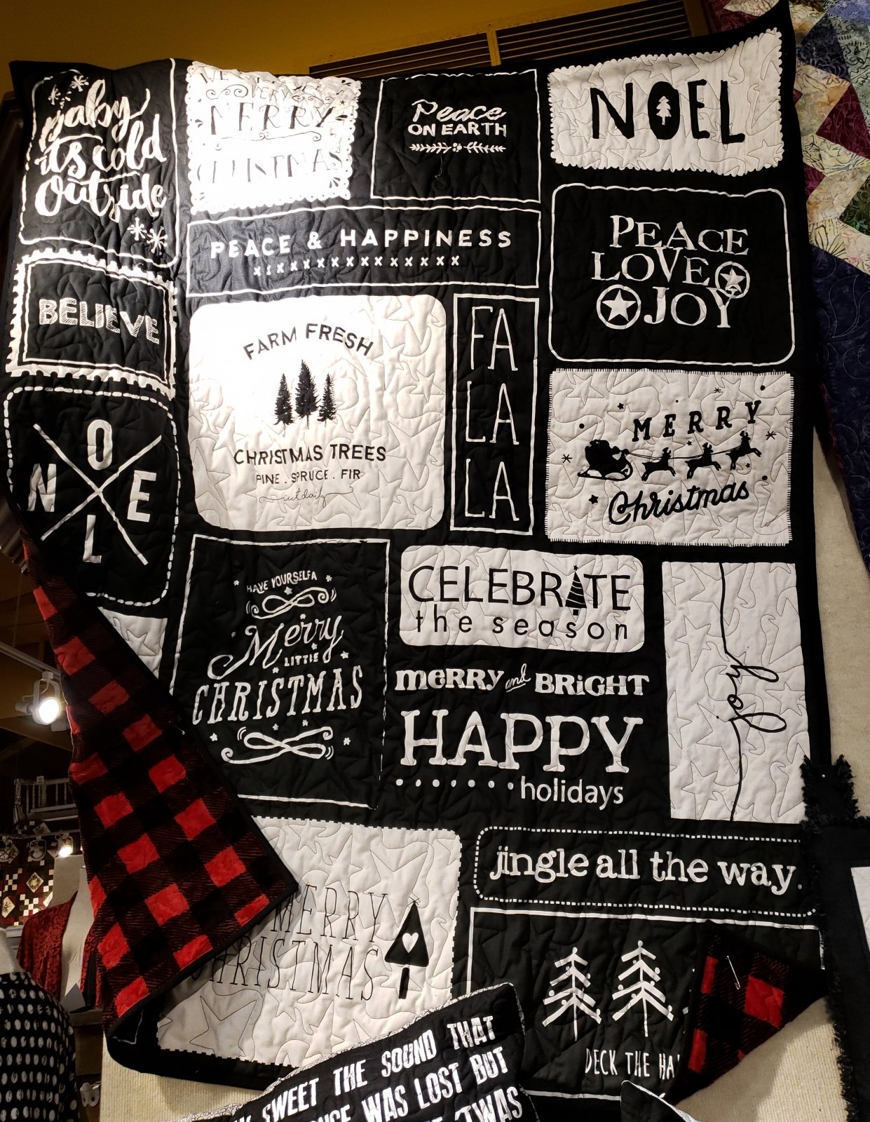 Christmas Wishes KISS Quilt Kit