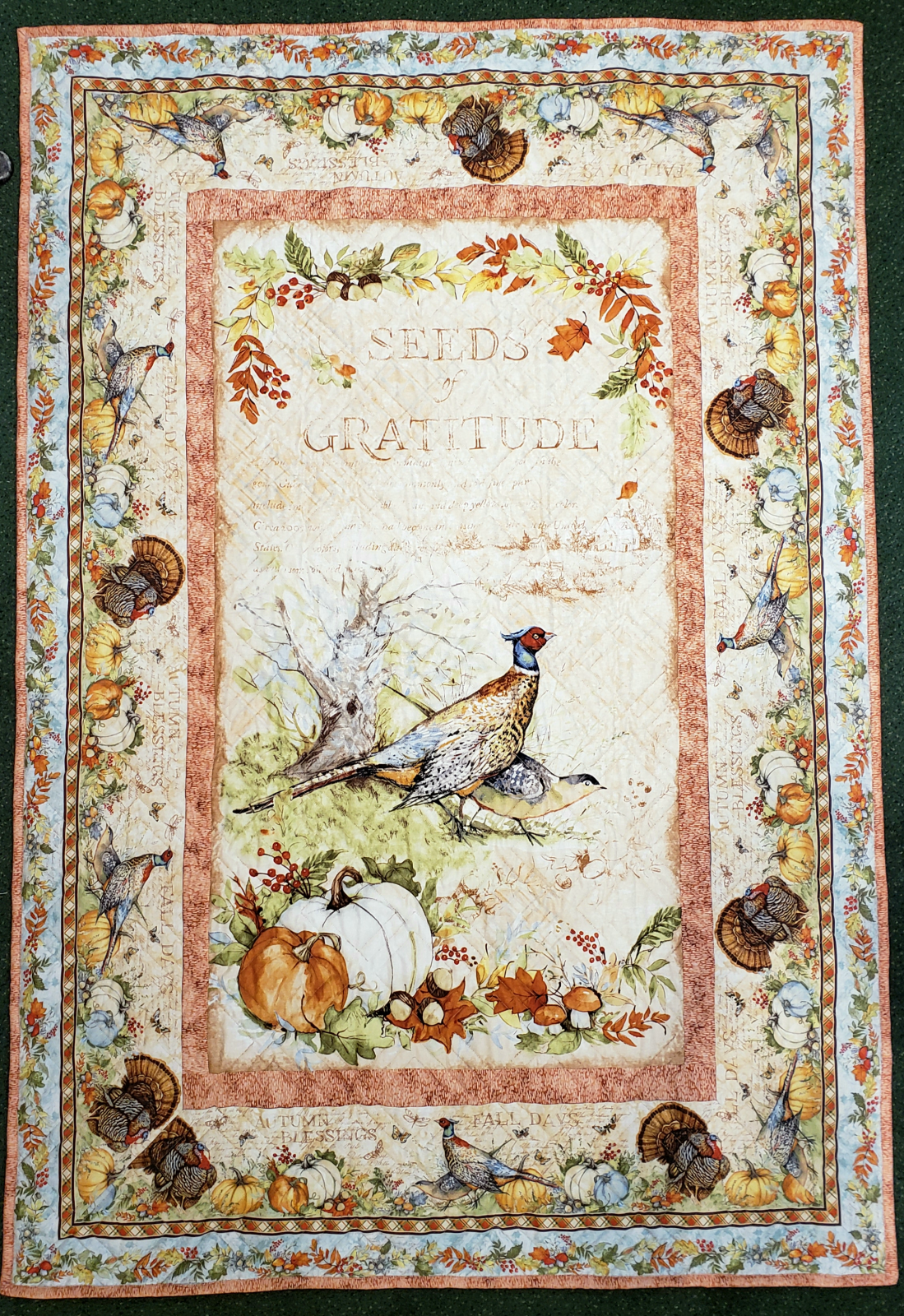 Seeds Of Gratitude Panel Quilt