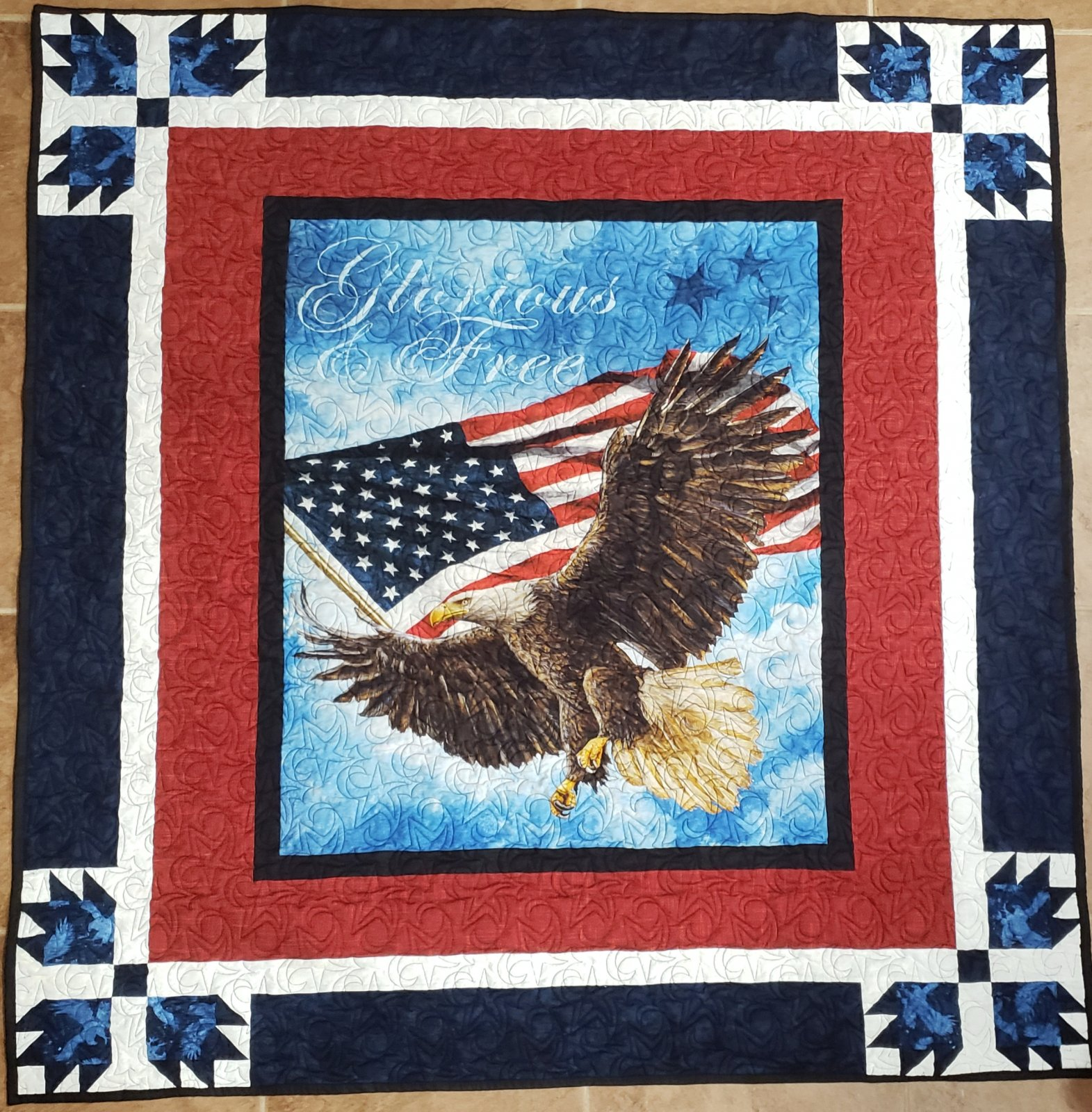 Bear Paw Perfection - Stars and Stripes Throw