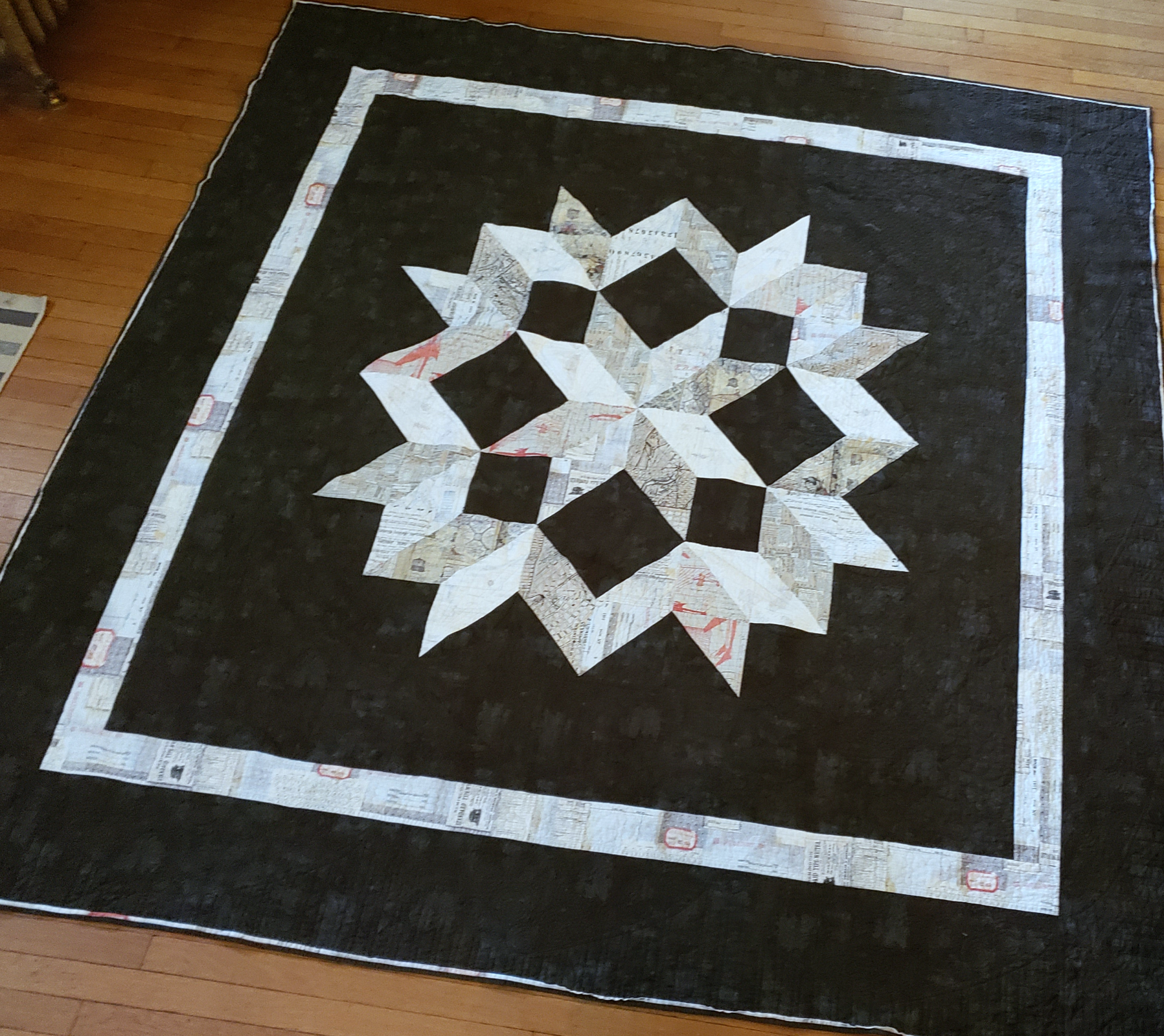 Carpenter's Star Elements King Quilt Kit - Finished Size 108in Square