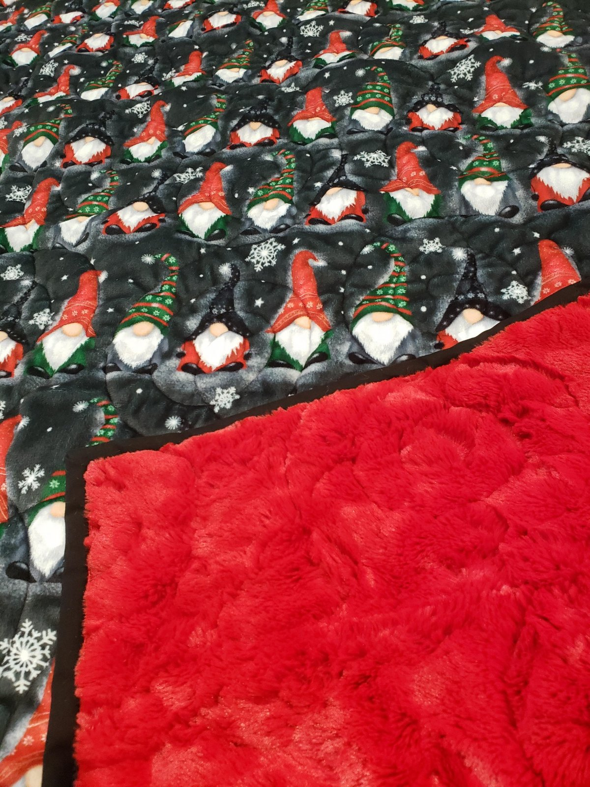Quilted Luxe Cuddle Throw Kit - Gnomes
