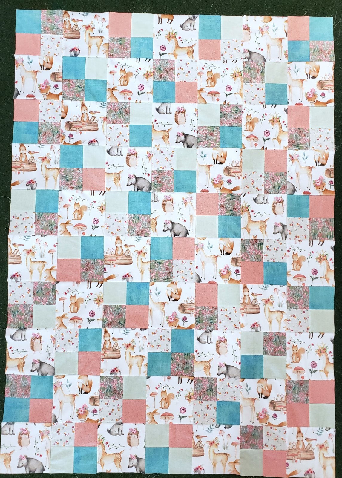 Show Me Cuddle 4-Patch Baby Quilt - Sweet Darlings