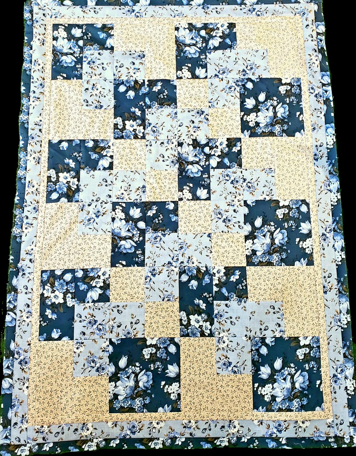 3-Yard Quilt Kit - Elegant Blooms