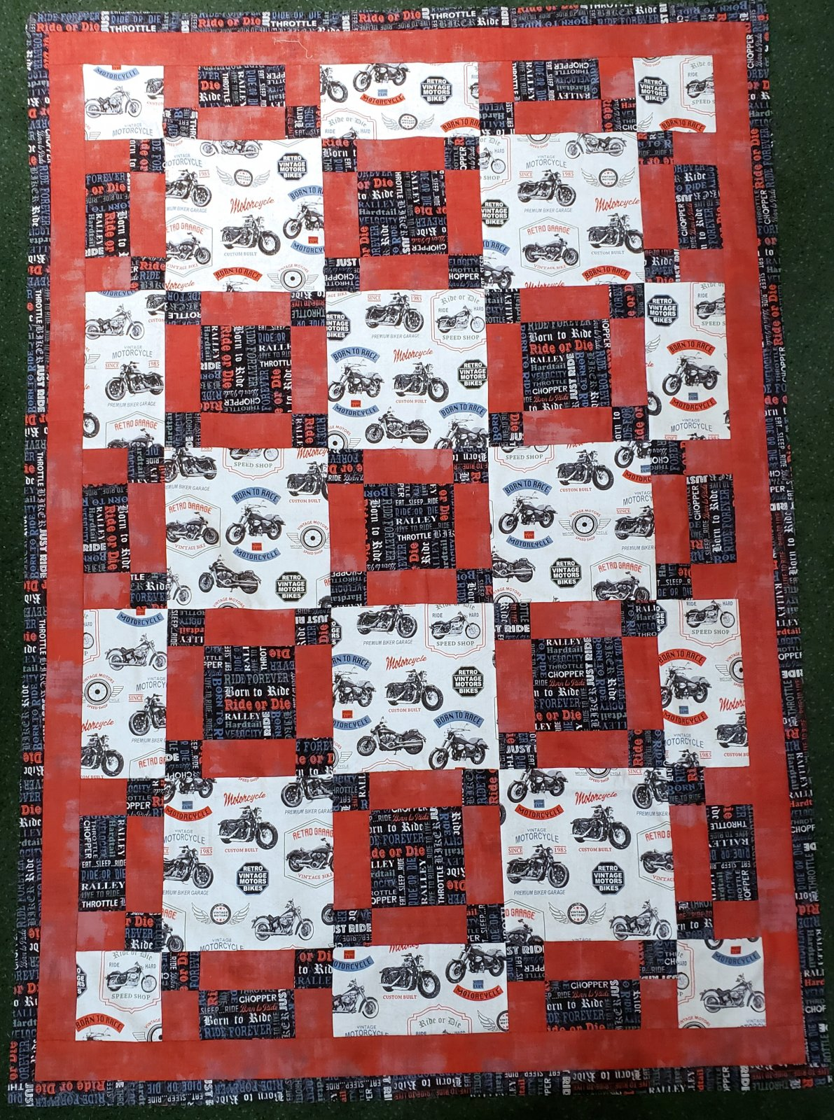 3-Yard Quilt Kit - Born to Ride