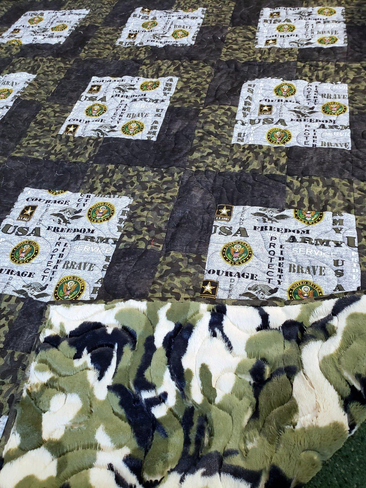 3-Yard Quilt Kit - Army