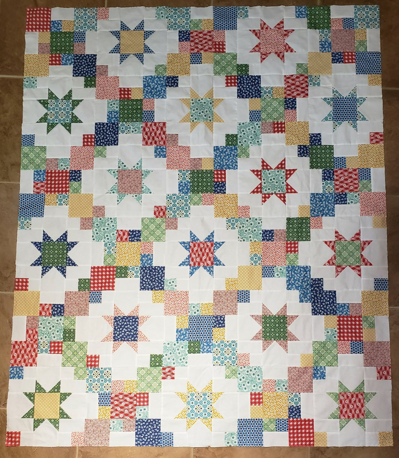 Brightly Throw Quilt Kit