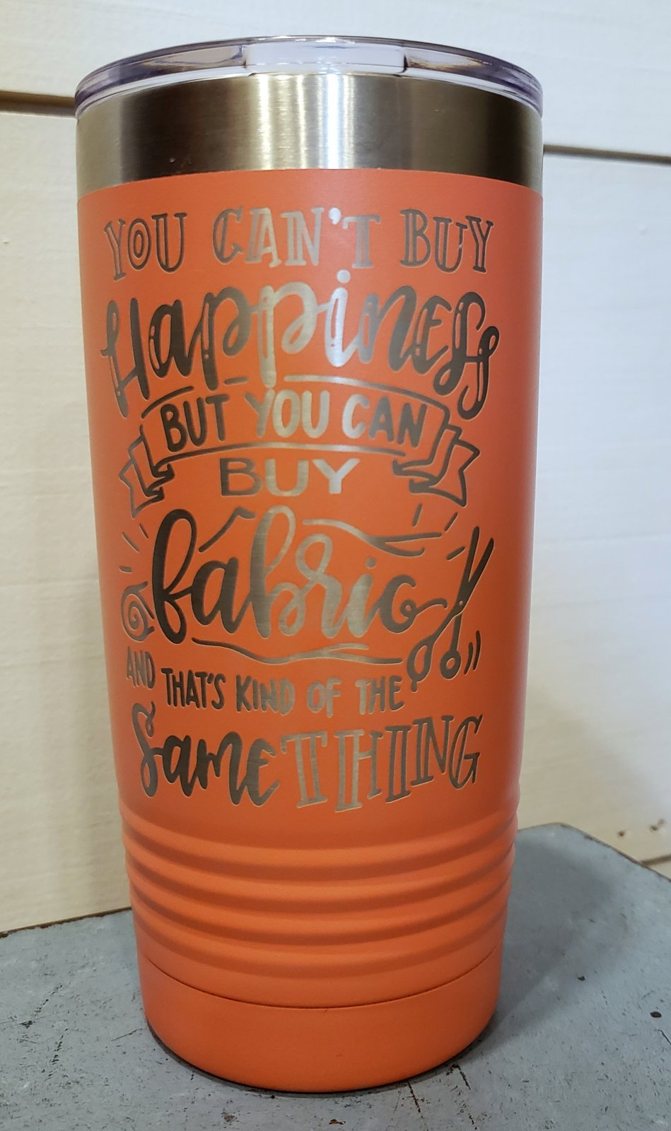 Tumbler - Can't Buy Happiness - Coral