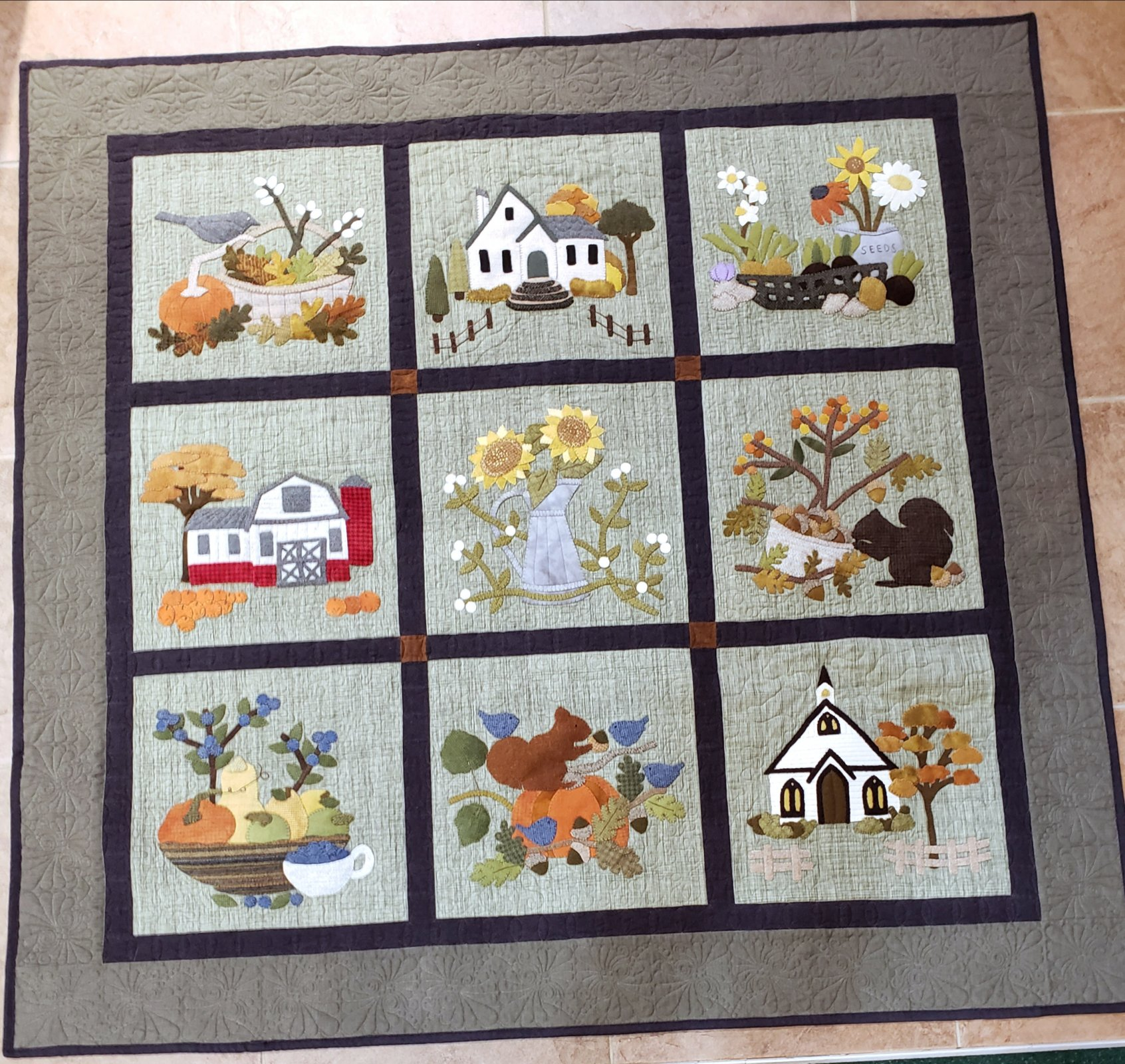 A Time For Gathering Wool and Cotton Wall Hanging Kit