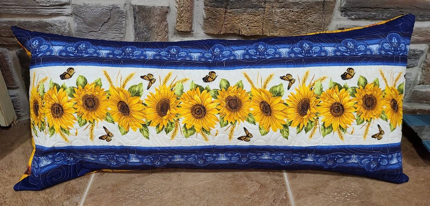Bench Pillow Kit - Accent on Sunflowers