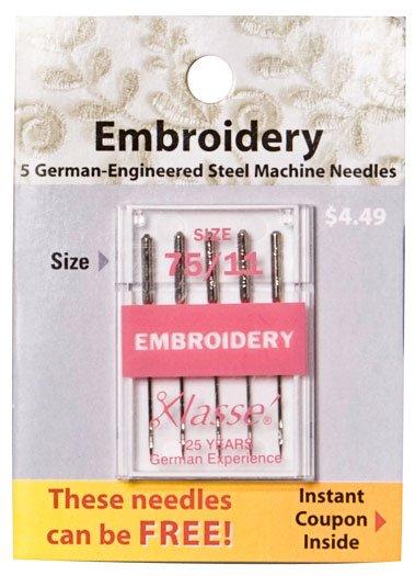 Klasse Embroidery Needle 75/11