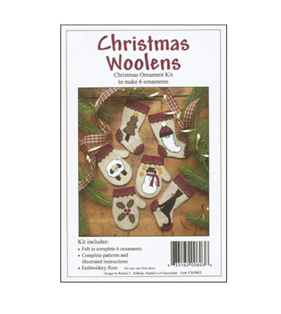 Christmas Woolens Ornaments Kit with Pattern